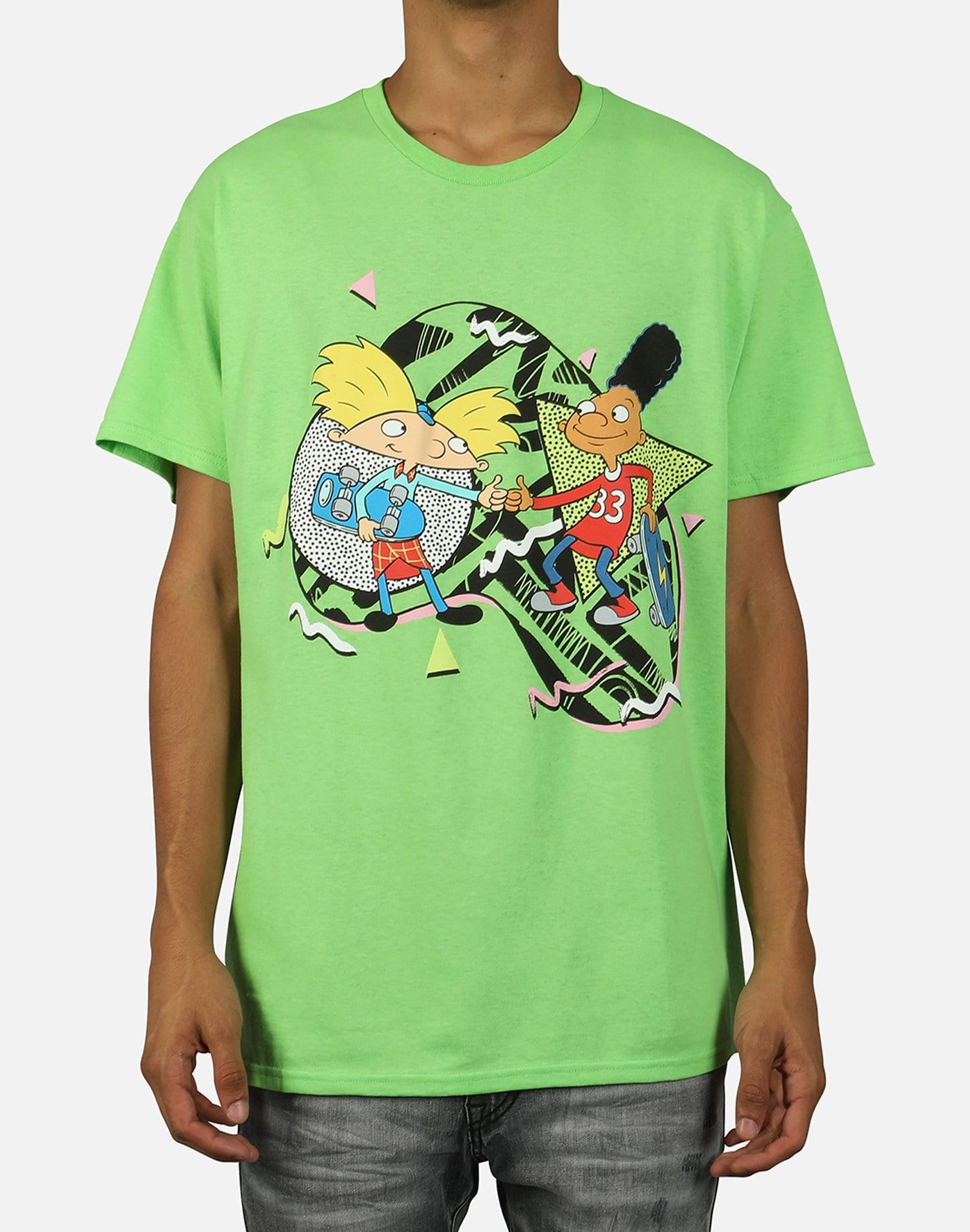 Central Mills Inc Men's Hey Arnold Skateboard Tee
