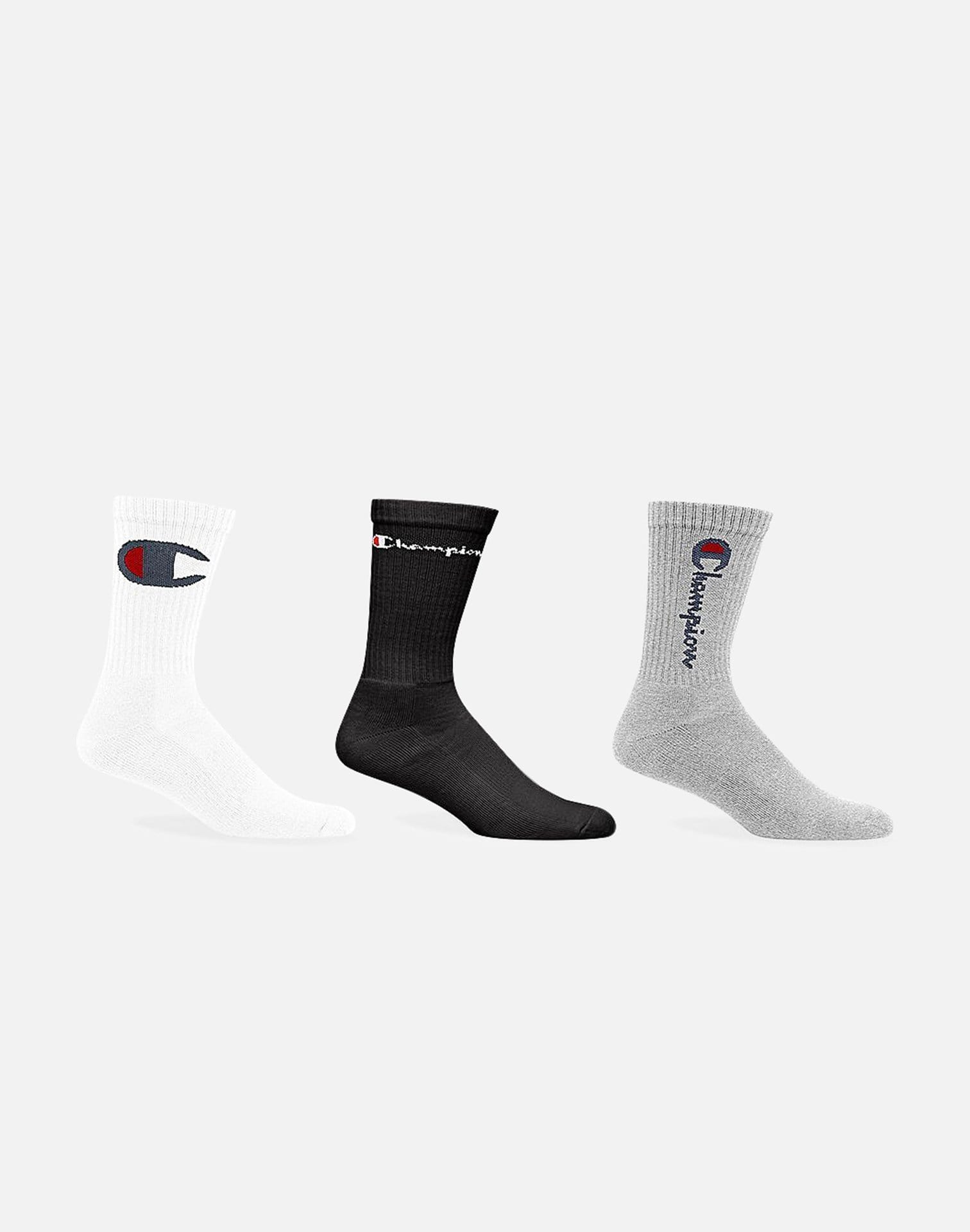 Champion Multi Logo 3-Pack Crew Socks