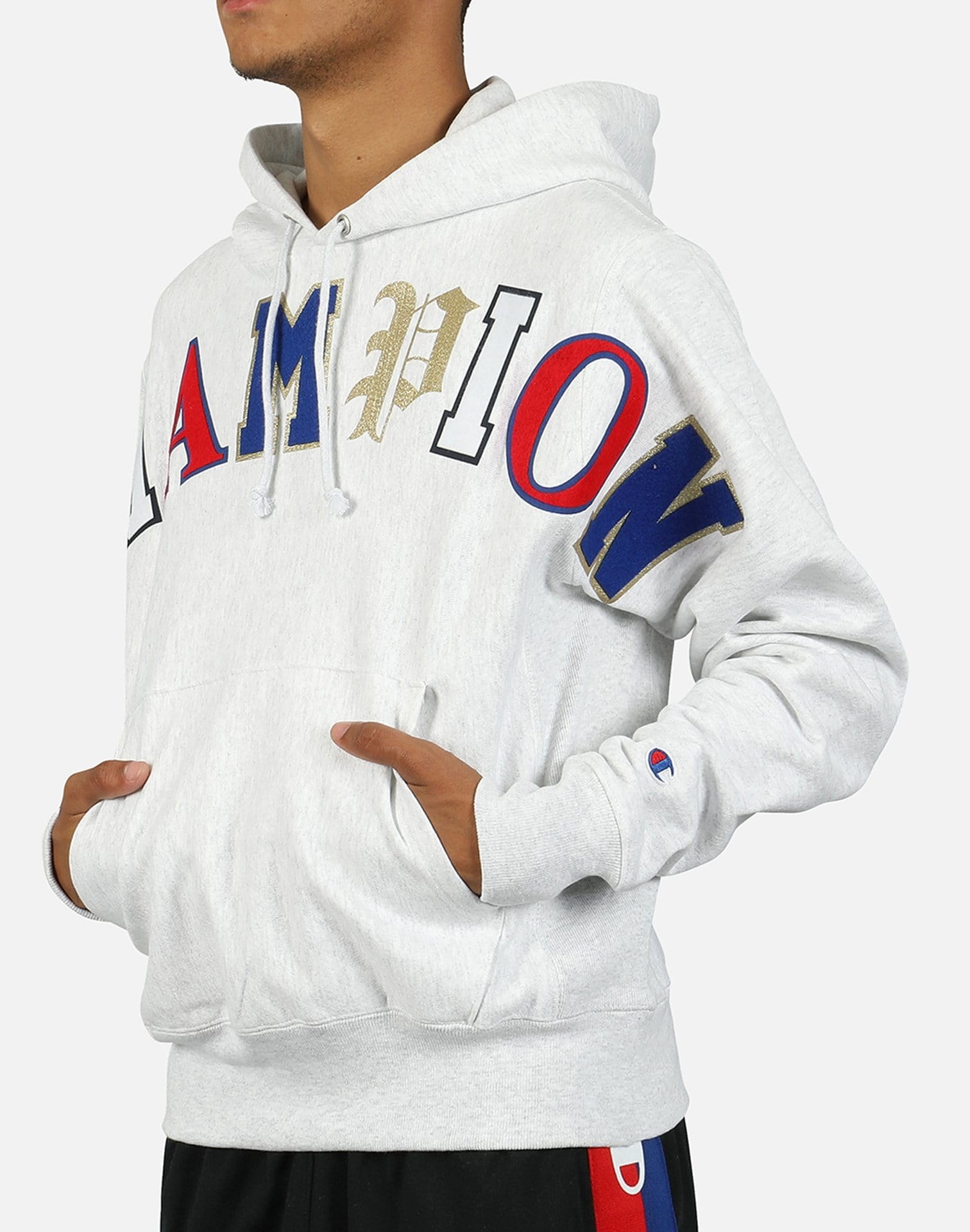 Champion Men's Reverse Weave Old English Pullover Hoodie