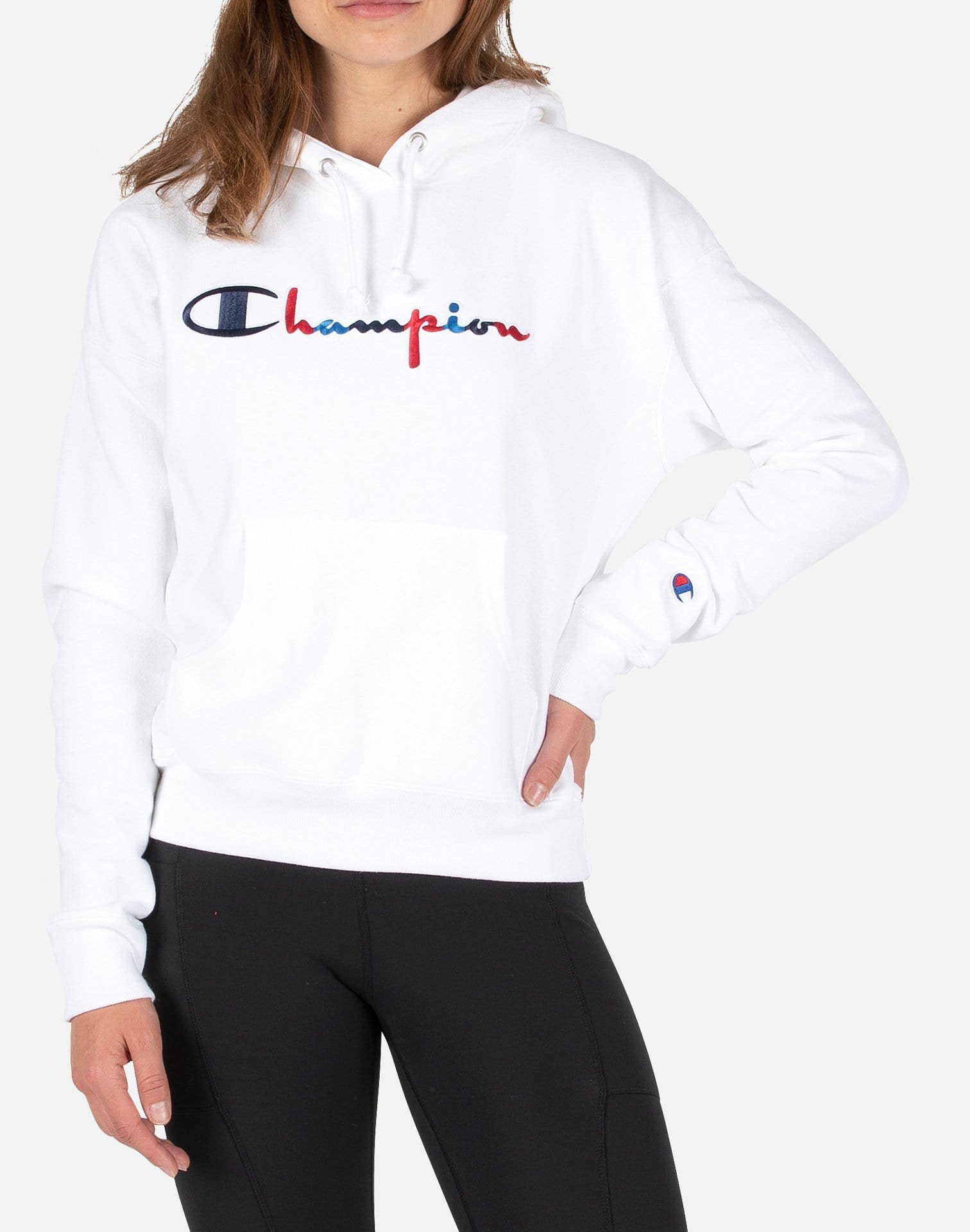 Champion Women's Vintage Logo Reverse Weave Pullover Hoodie