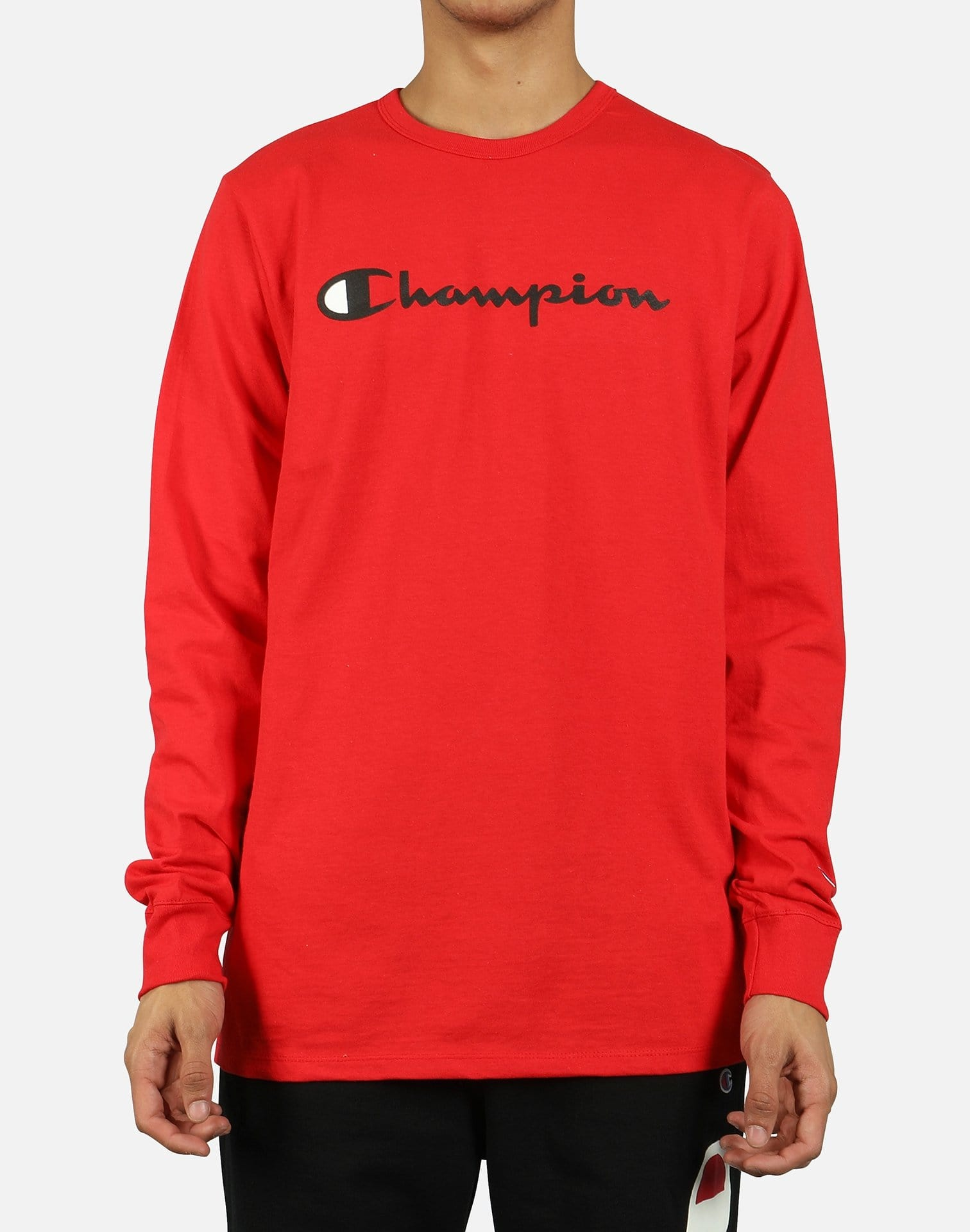 Champion Men's Heritage Ink Script Logo Long-Sleeve Shirt