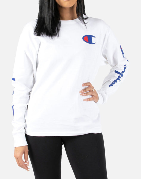 Champion Women's Original Big C Logo Long-Sleeve Tee