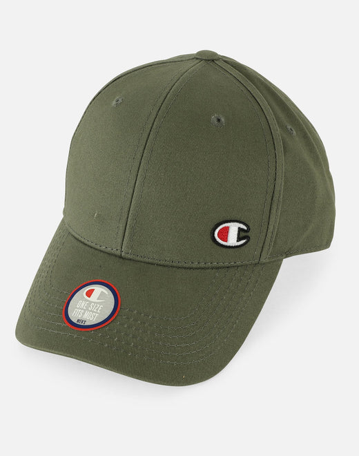 Champion Classic Twill C Patch Strapback Hat