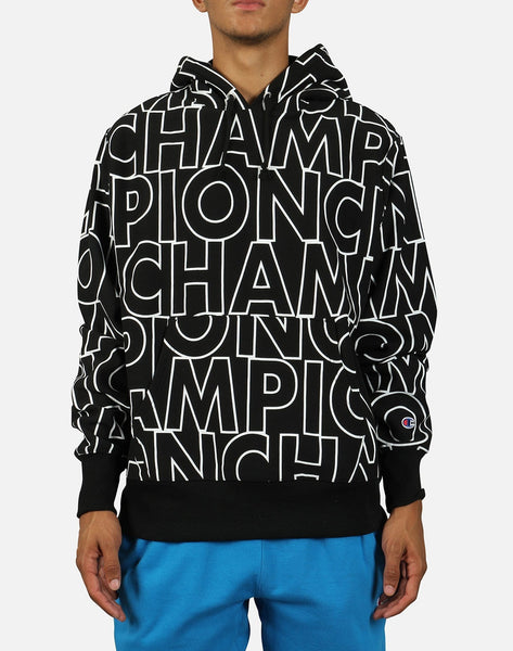 Champion Men's All-Over Logo Reverse Weave Pullover Hoodie