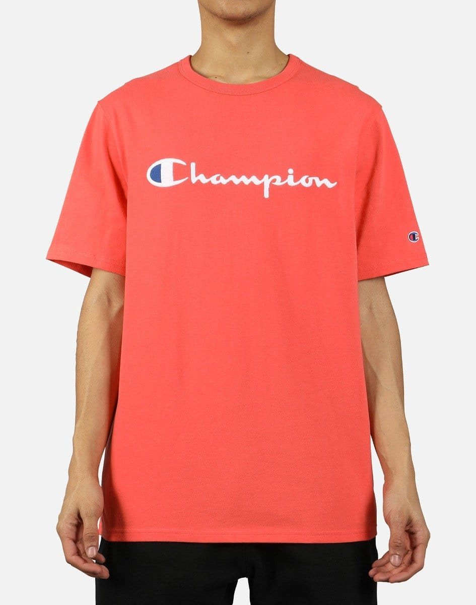 Champion Men's Heritage Embroidered Script Logo Tee