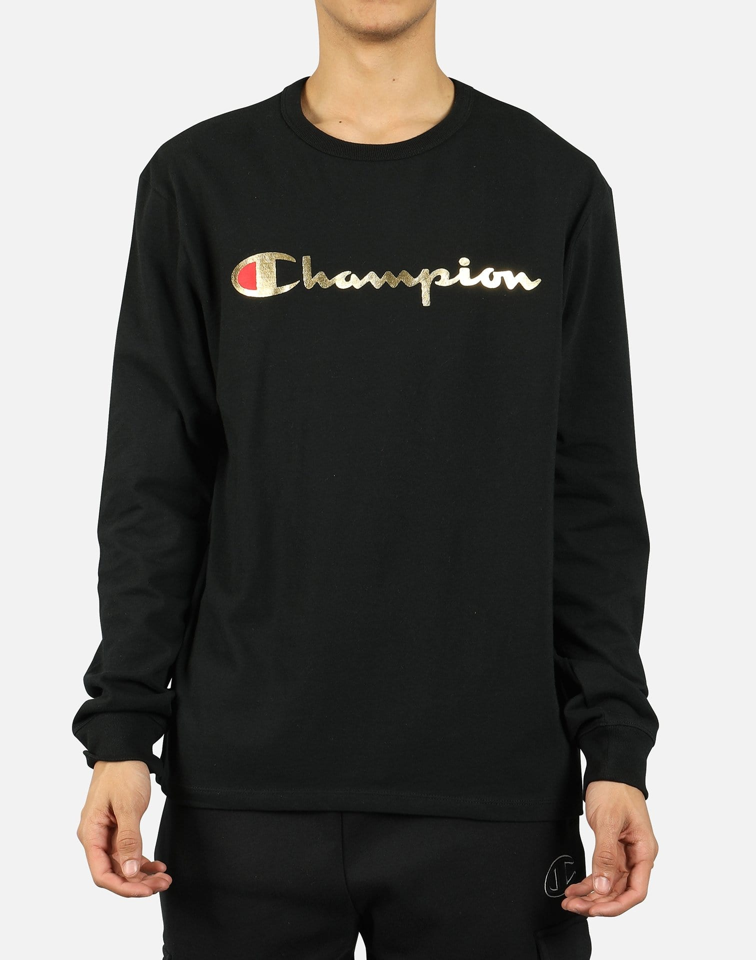 Champion Men's Heritage Gold Script Long-Sleeve Shirt