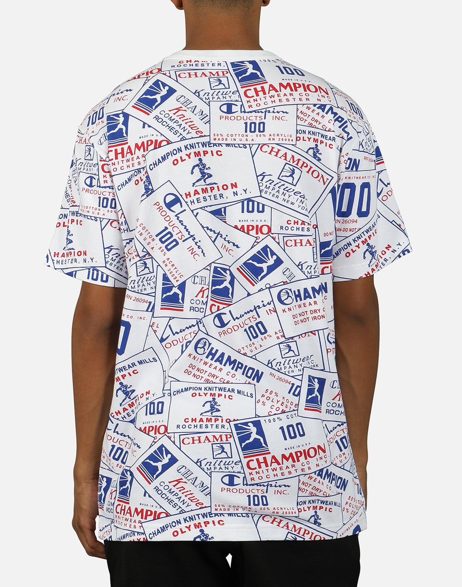 Champion Men's All Over Tag Century Tee