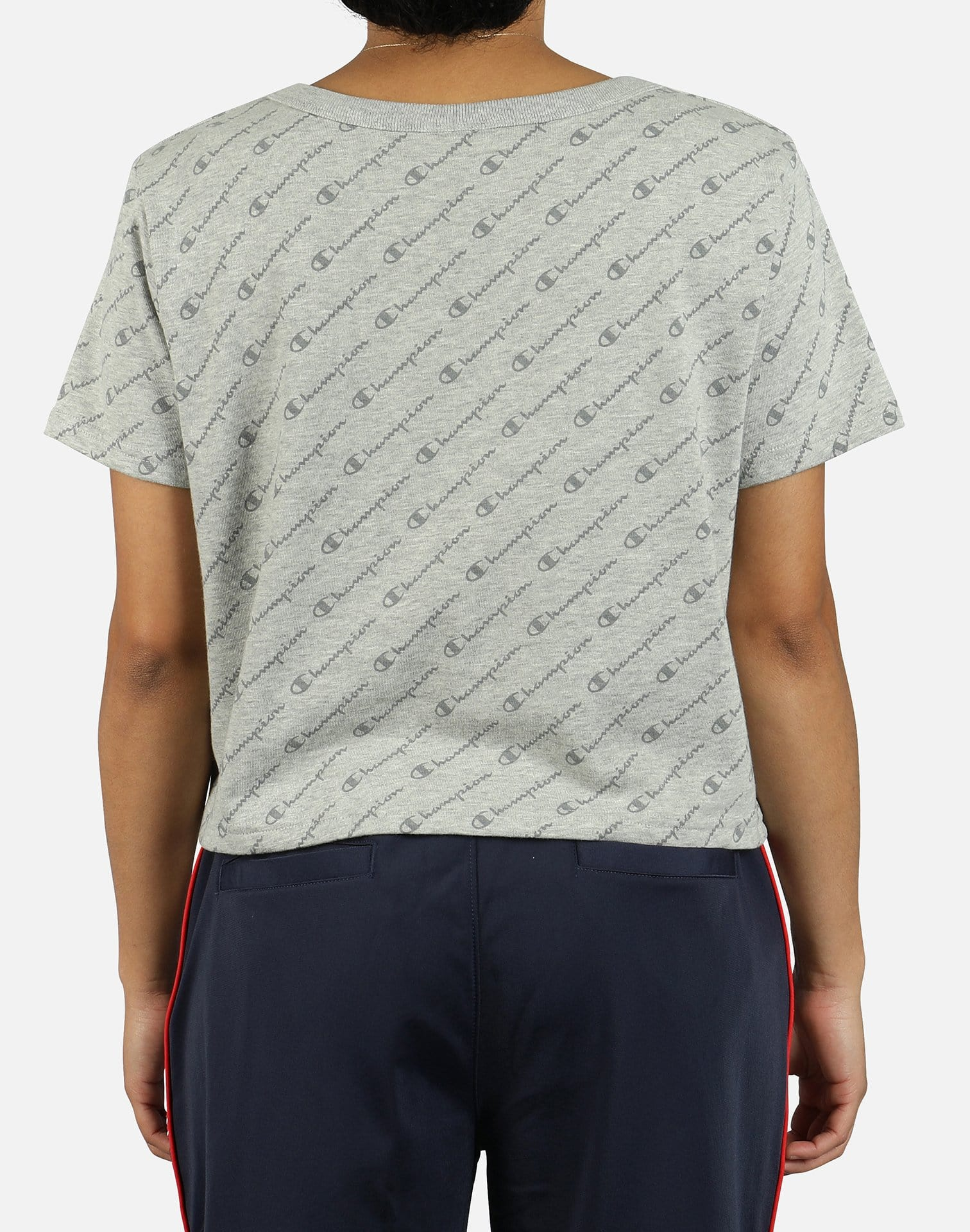 Champion Women's All Over Print Cropped Tee