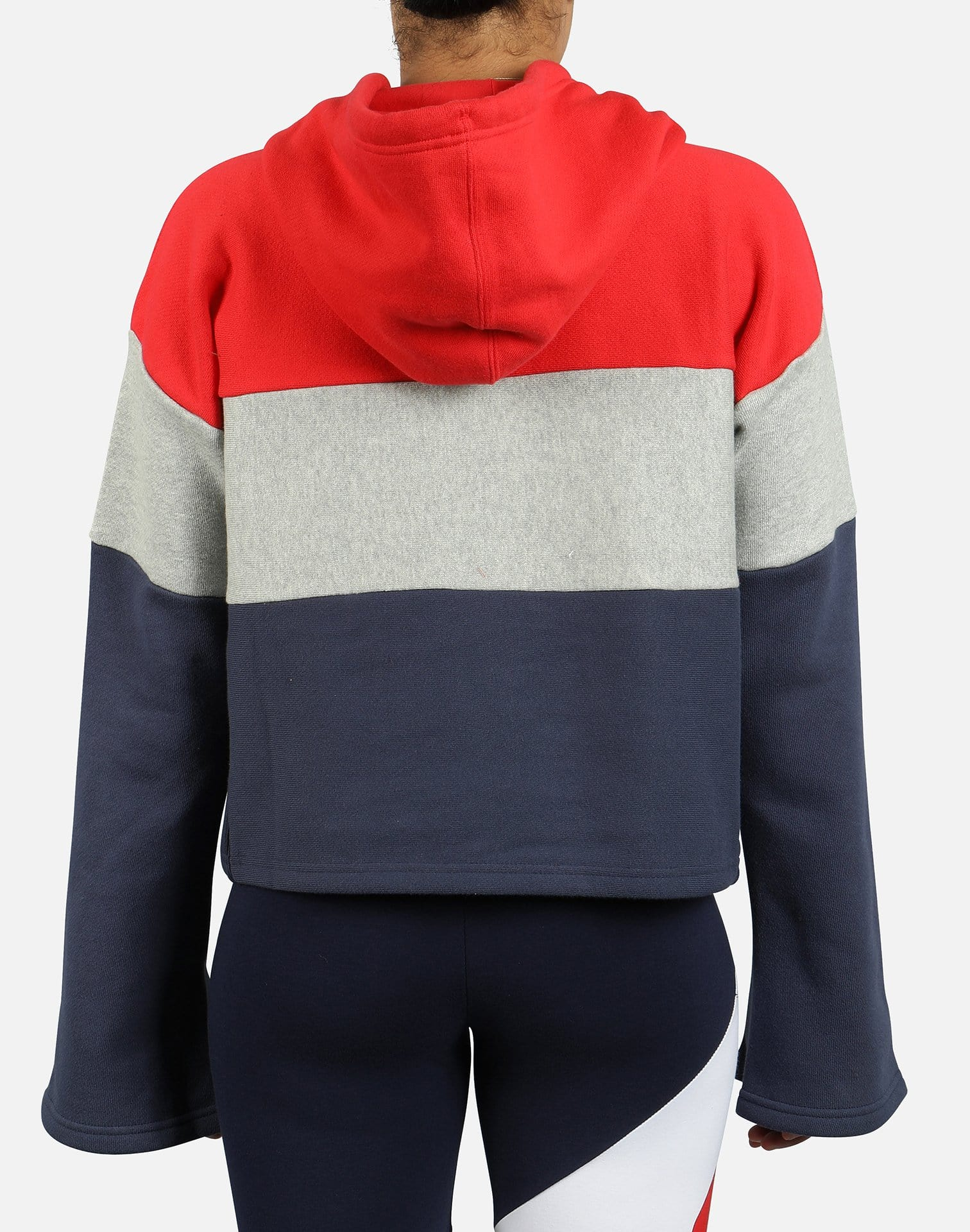 Champion Women's Colorblock Reverse Weave Crop Pullover Hoodie