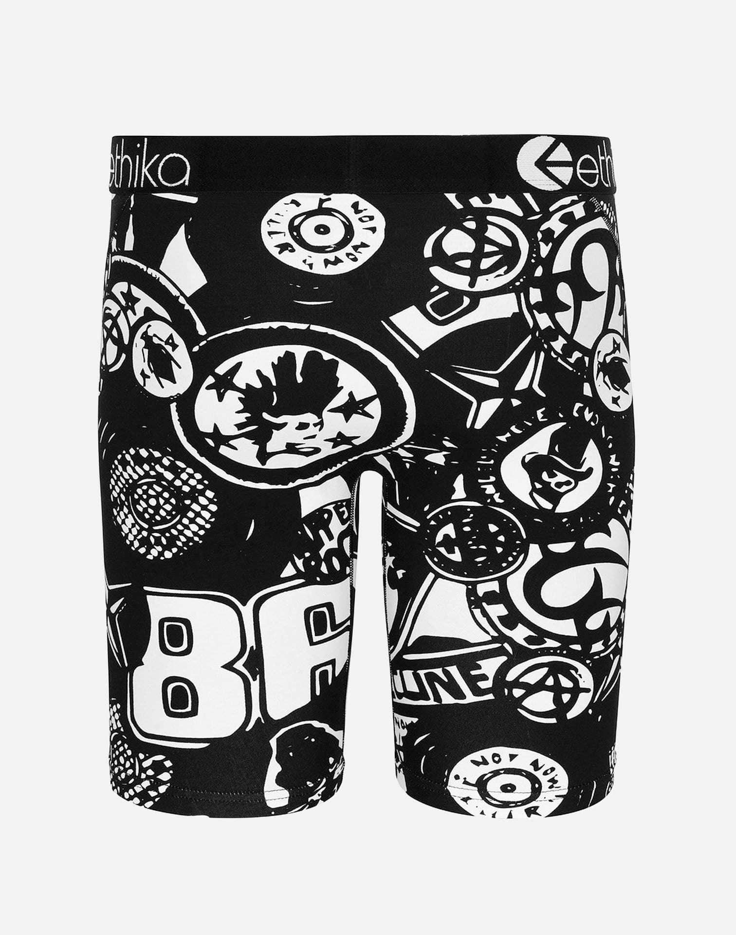 Ethika Soul Rebellion Staple Boxer Briefs (Black/White)