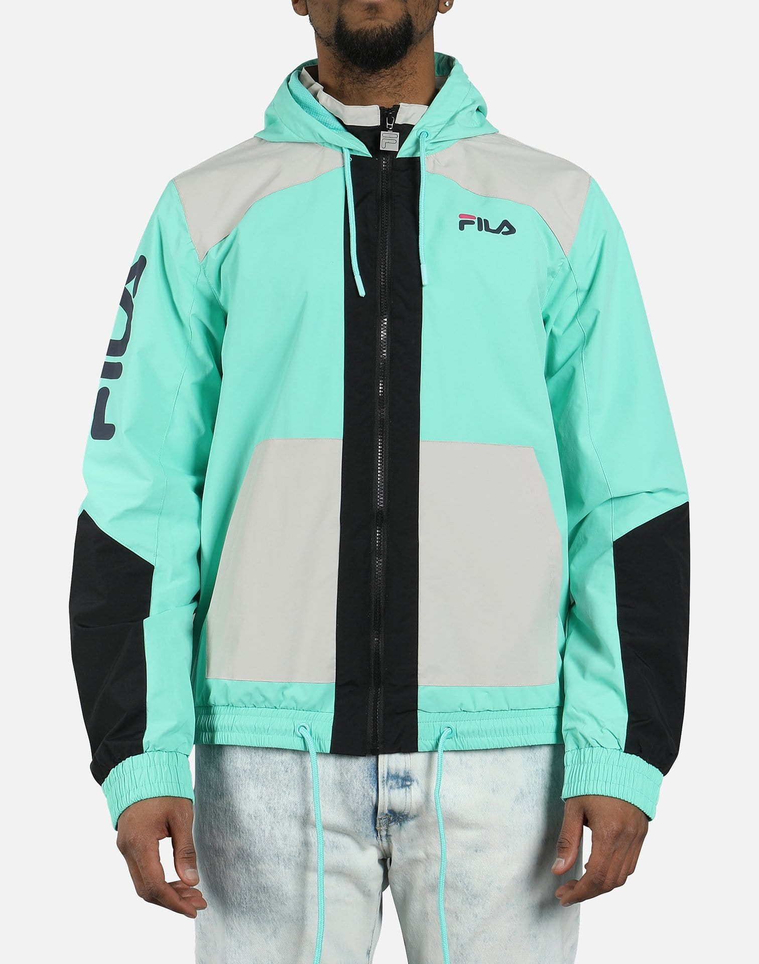 FILA Men's Earl Full Zip Hooded Jacket