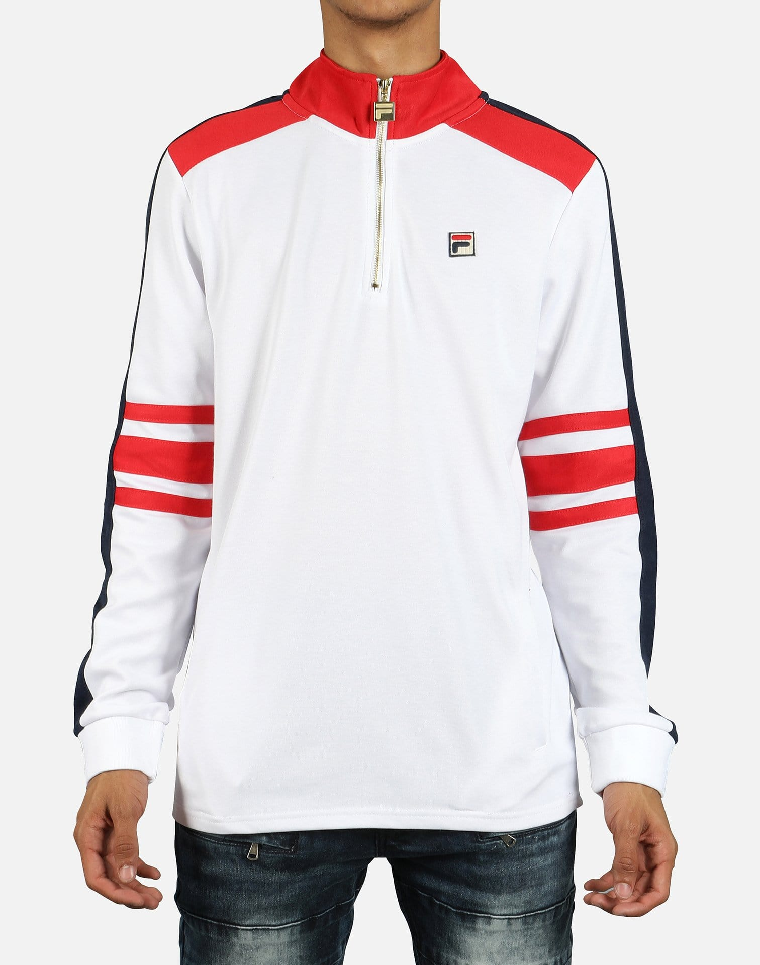 FILA Men's Alastair Vintage1/4 Zip Sweatshirt