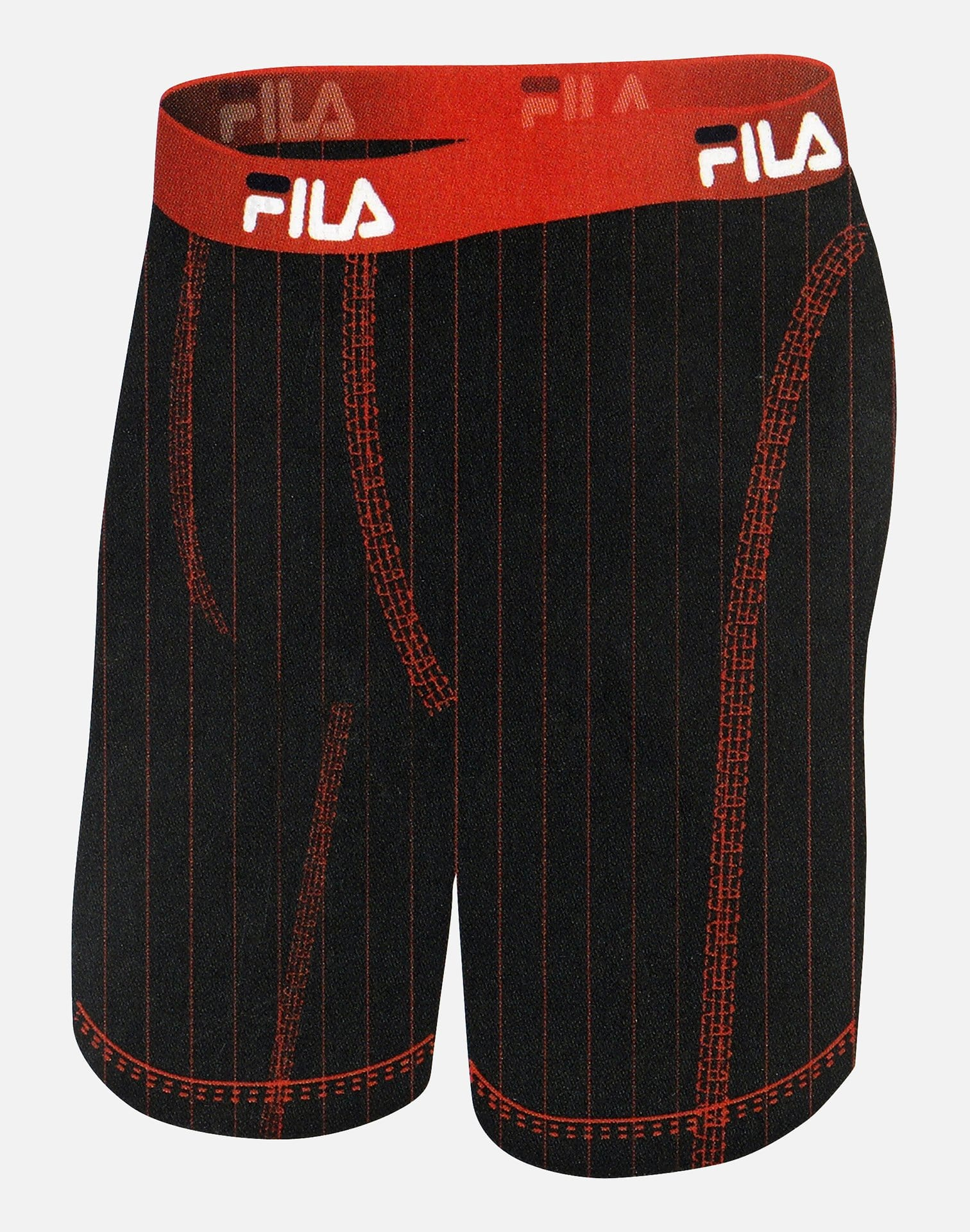 FILA Men's OG Fitness Striped Boxer Briefs