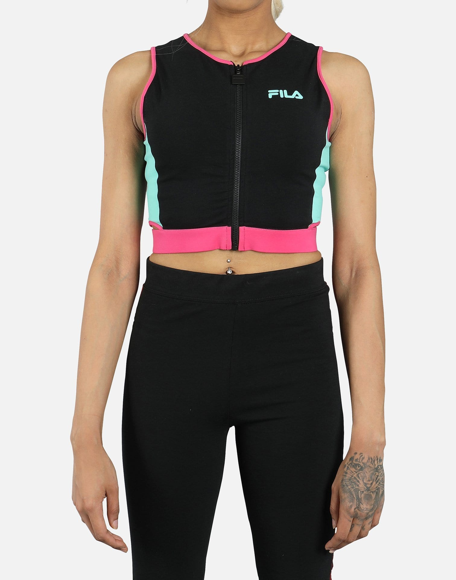 Fila Women's Tally Zip Crop Top