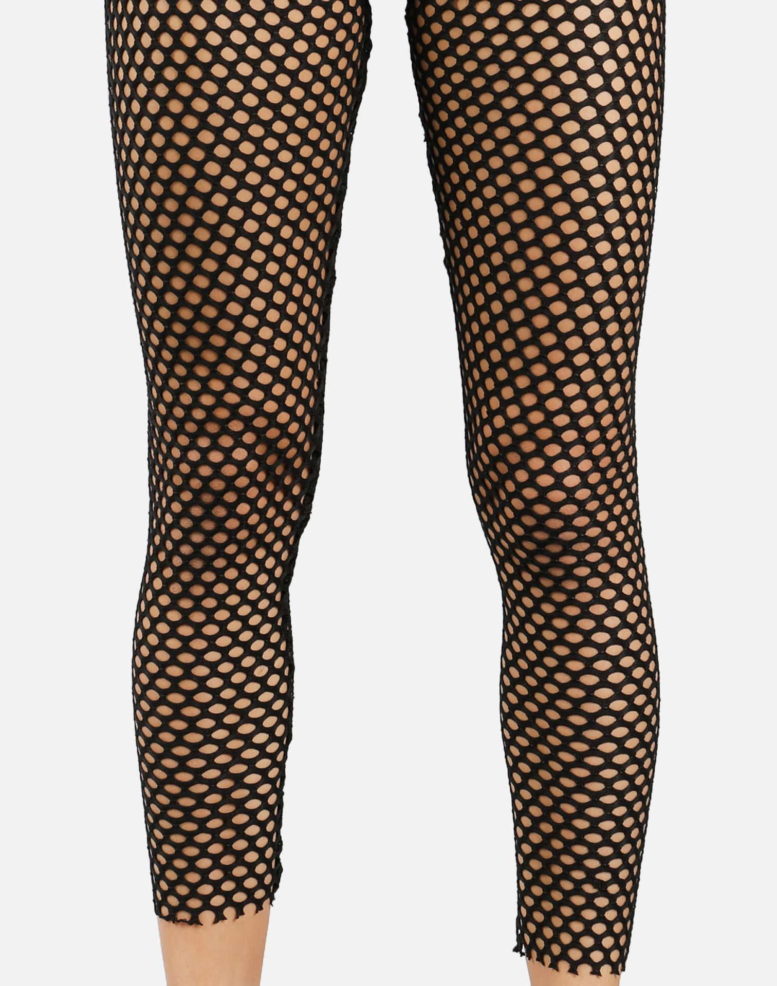 Golden Touch Fishnet Leggings (Black)