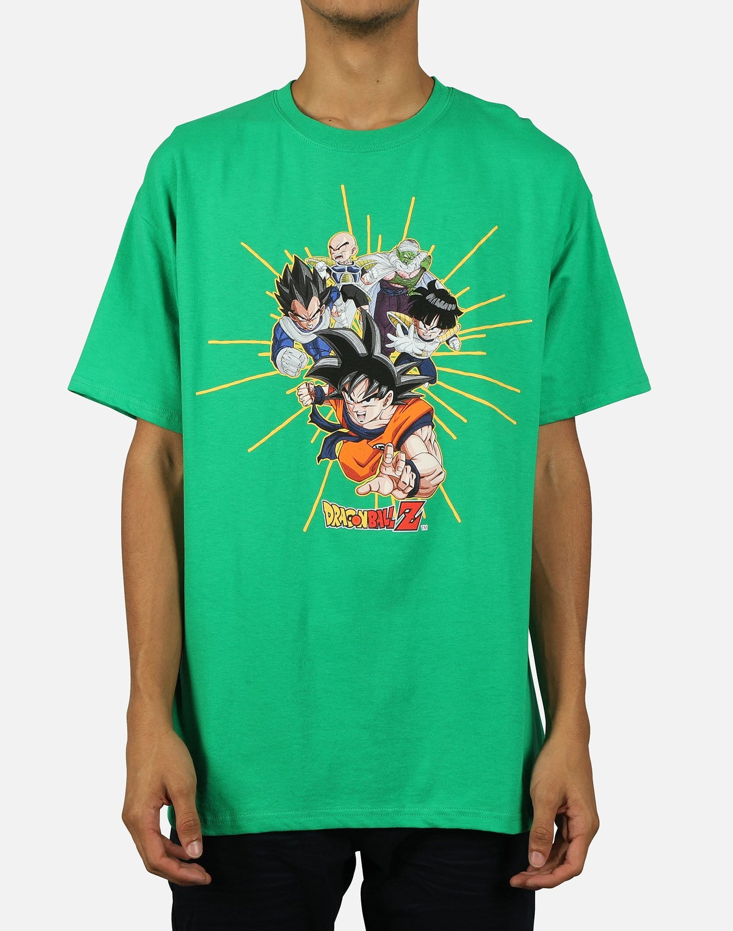 Greatest Eastern Entertainment Men's Dragon Ball Z Gold Rays Tee