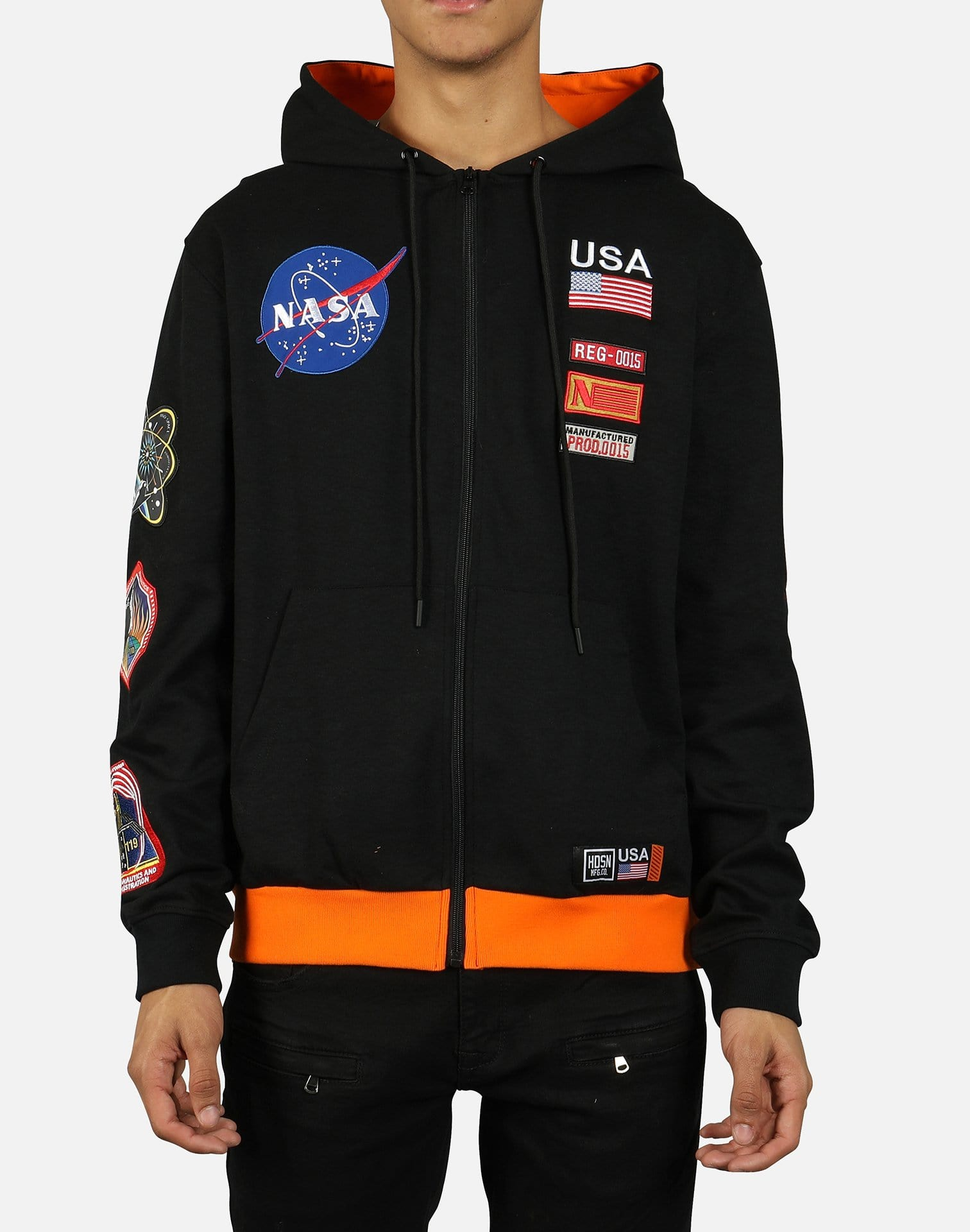 Hudson Men's NASA Future Meatballs Space Suit Full-Zip Hoodie