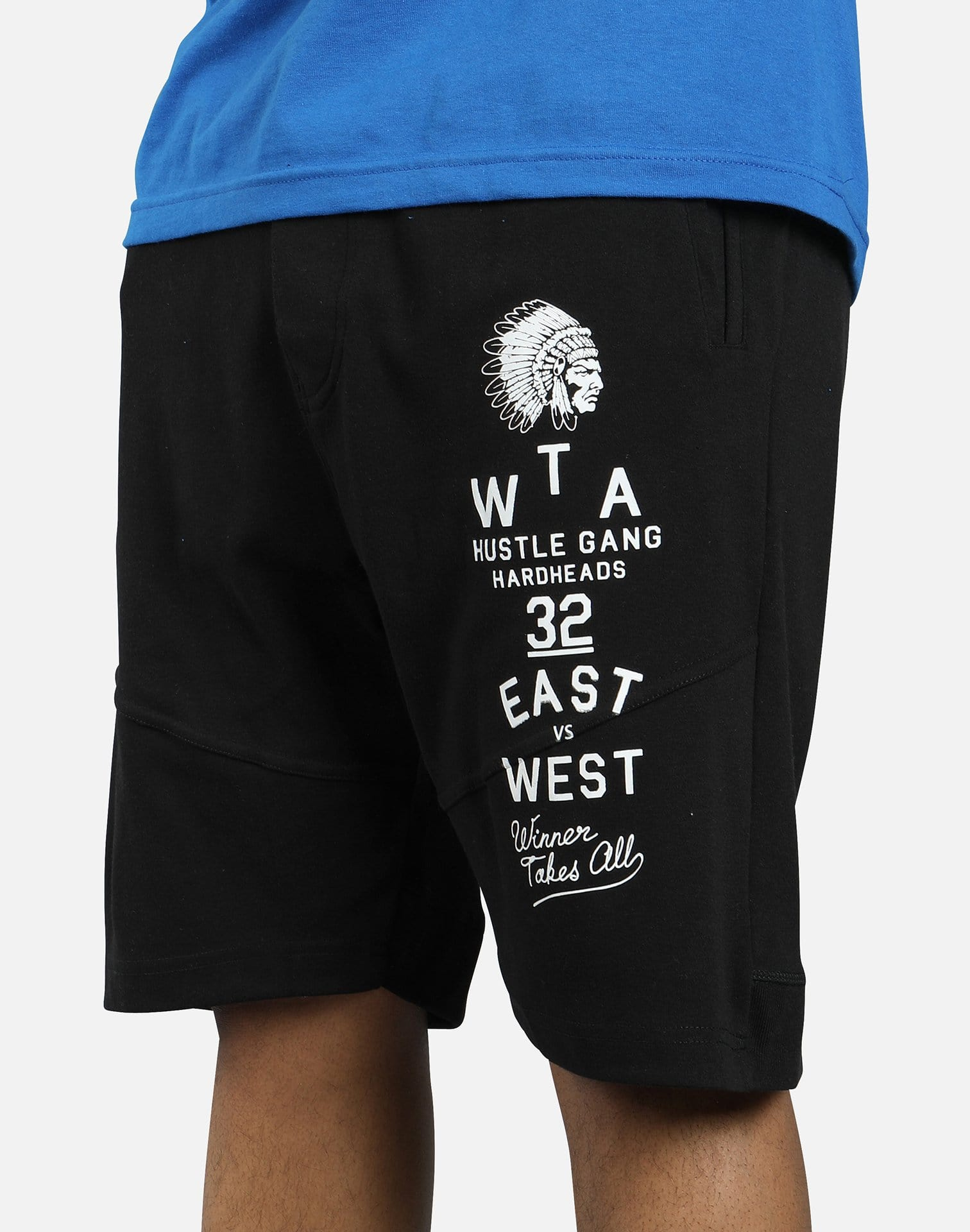 Hustle Gang Star Patch Shorts