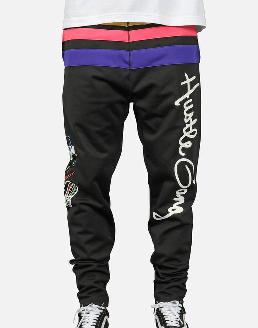 Hustle Gang Men's H-Bear Pull Up Track Pants