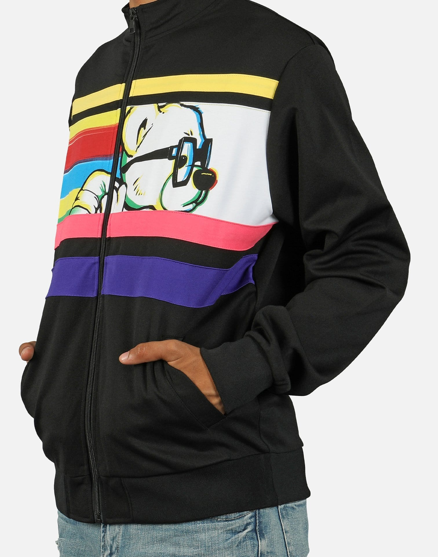 Hustle Gang Men's H-Bear Pull-Up Track Jacket