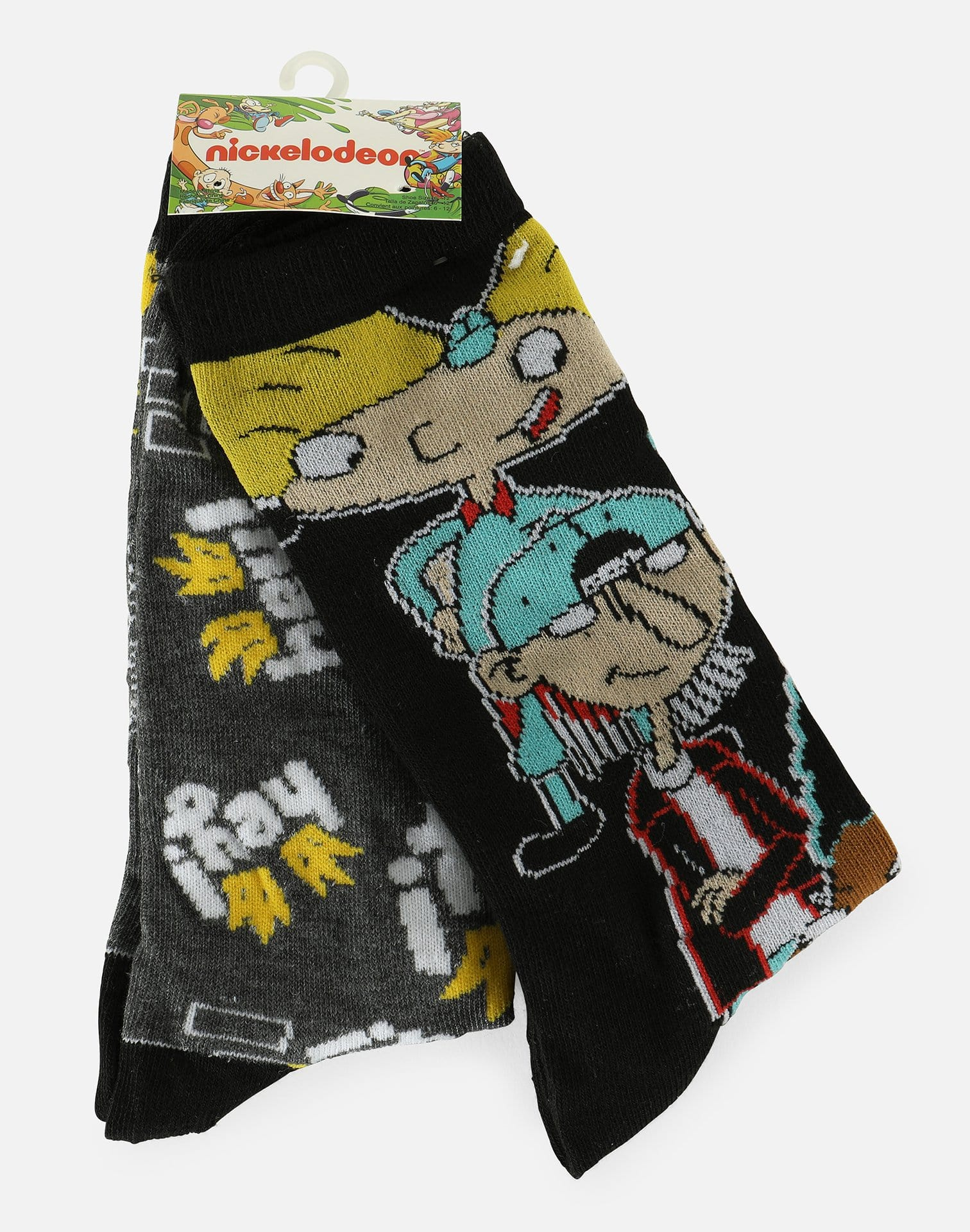 Hypnotic Hats LTD Hey Arnold 2-Pair Pack Socks