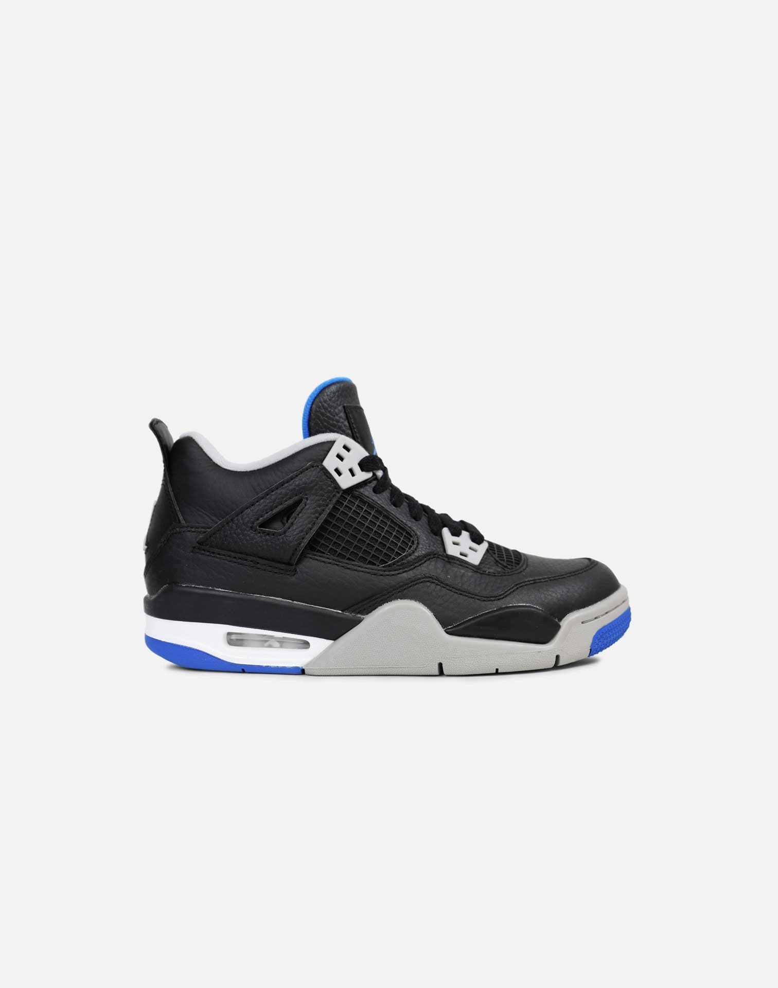 Jordan Air Jordan 4 Retro 'Motorsport Away' Grade-School (Black/Game Royal-Matte Silver)