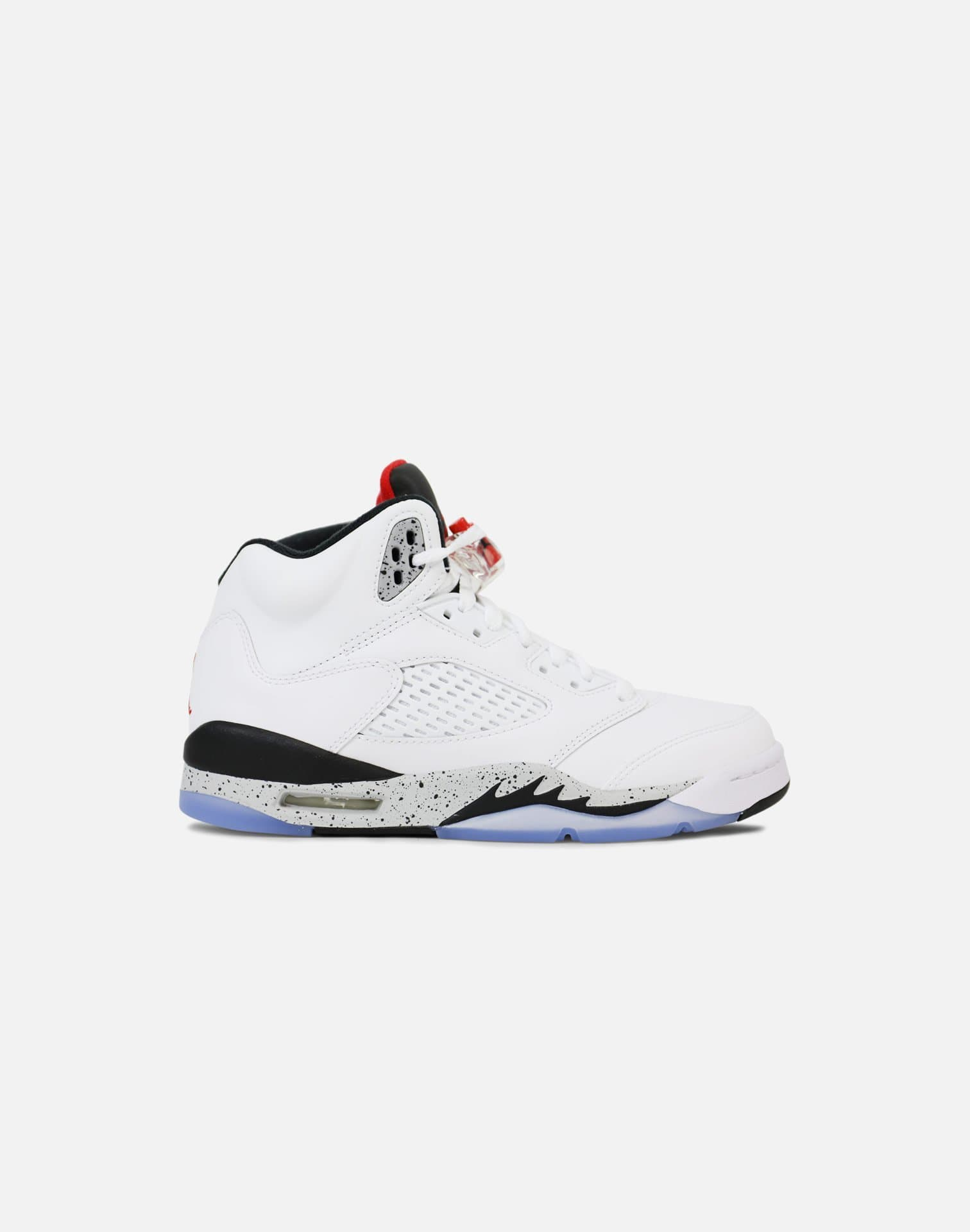 Jordan Air Jordan 5 Retro Grade-School (White/University Red-Black-Metallic Silver)