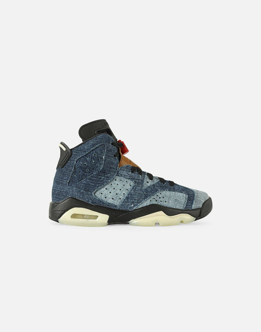 AIR JORDAN RETRO 6 'DENIM' GRADE-SCHOOL