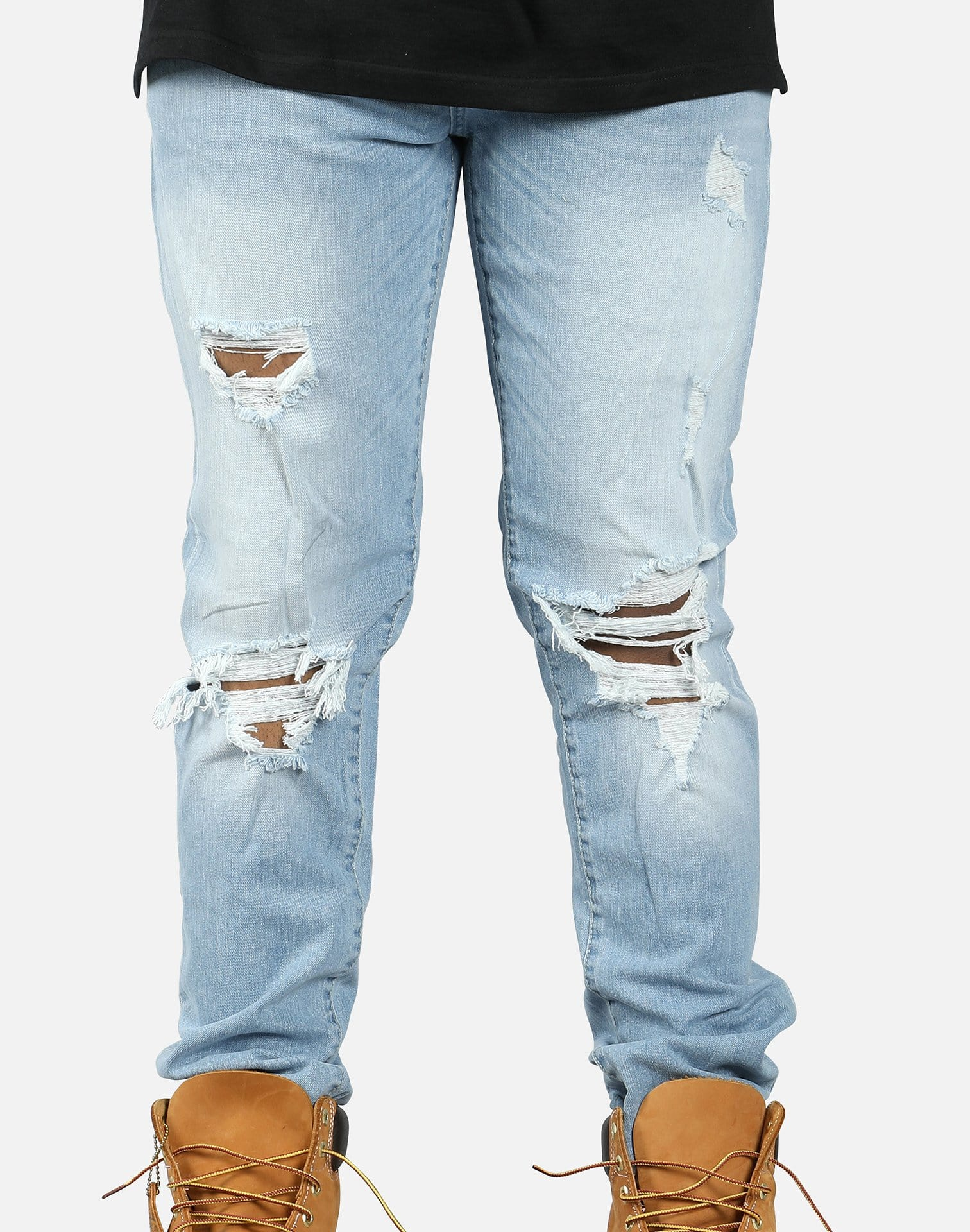 Jordan Craig Distressed Busted Knee Jeans