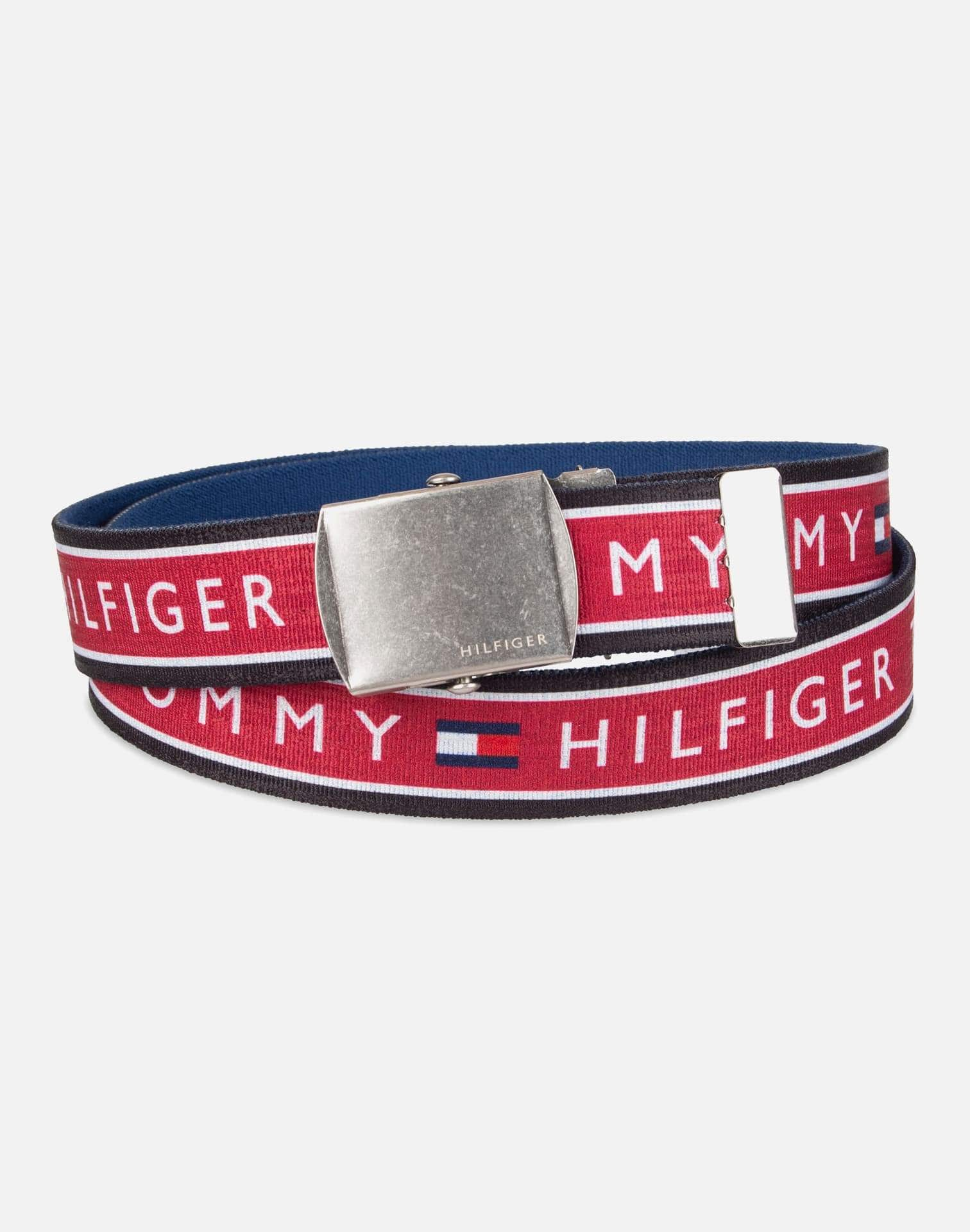 Tommy Hilfiger Fabric Inlay Plaque Belt