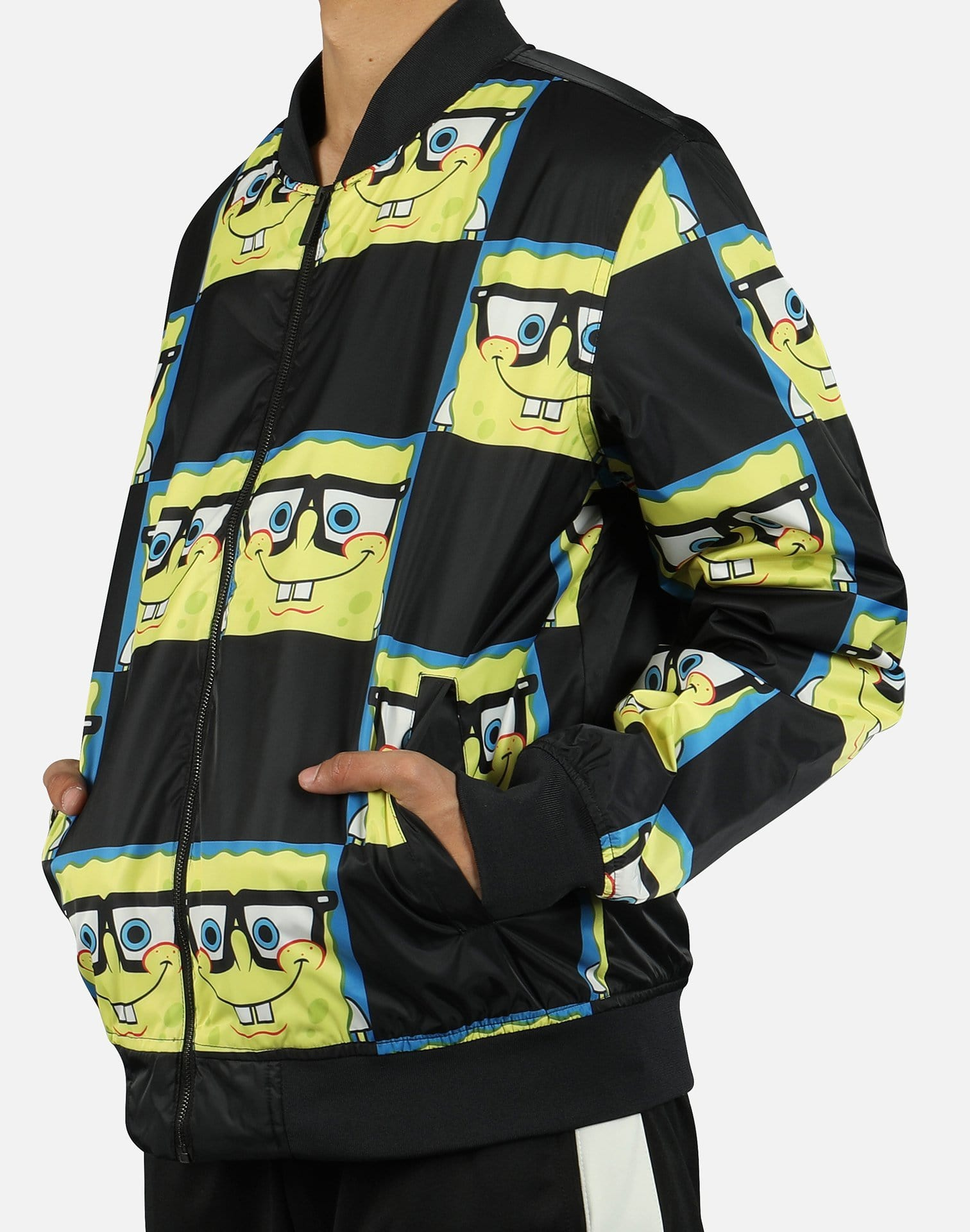 Members Only Men's Spongebob Bomber Jacket