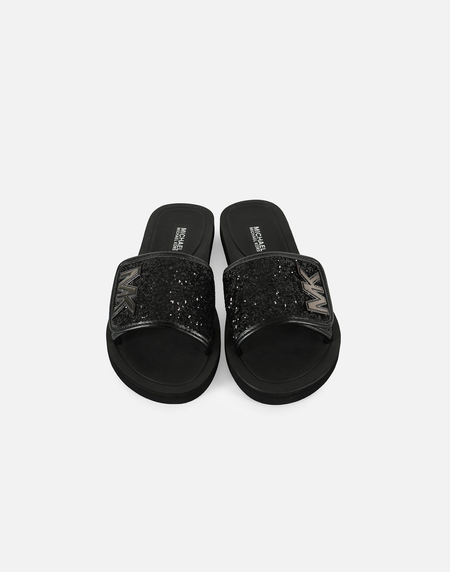 Michael Kors Girls' Eli Glow Glitter Slides Pre-School