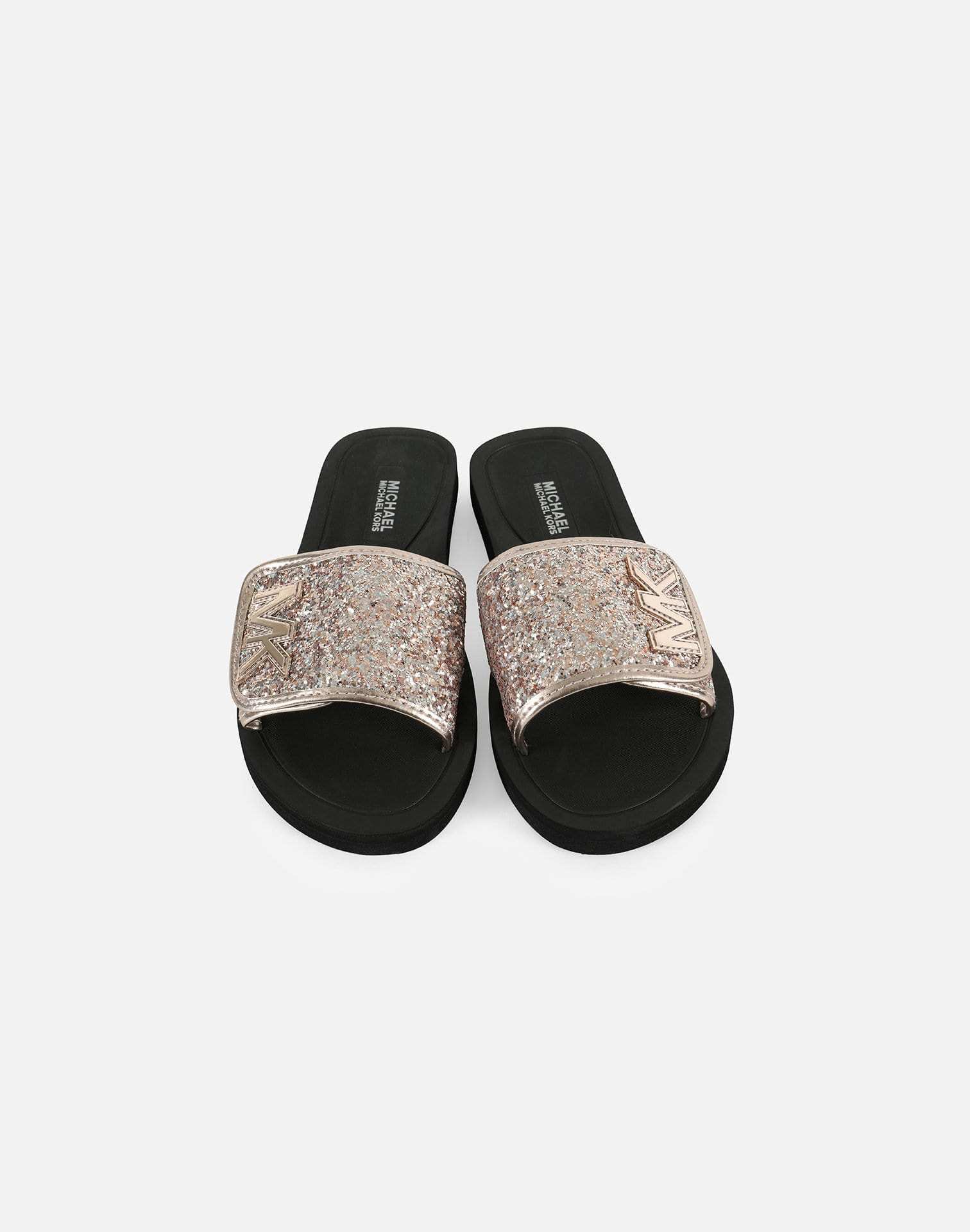 Michael Kors Girls' Eli Glow Glitter Slides Grade-School