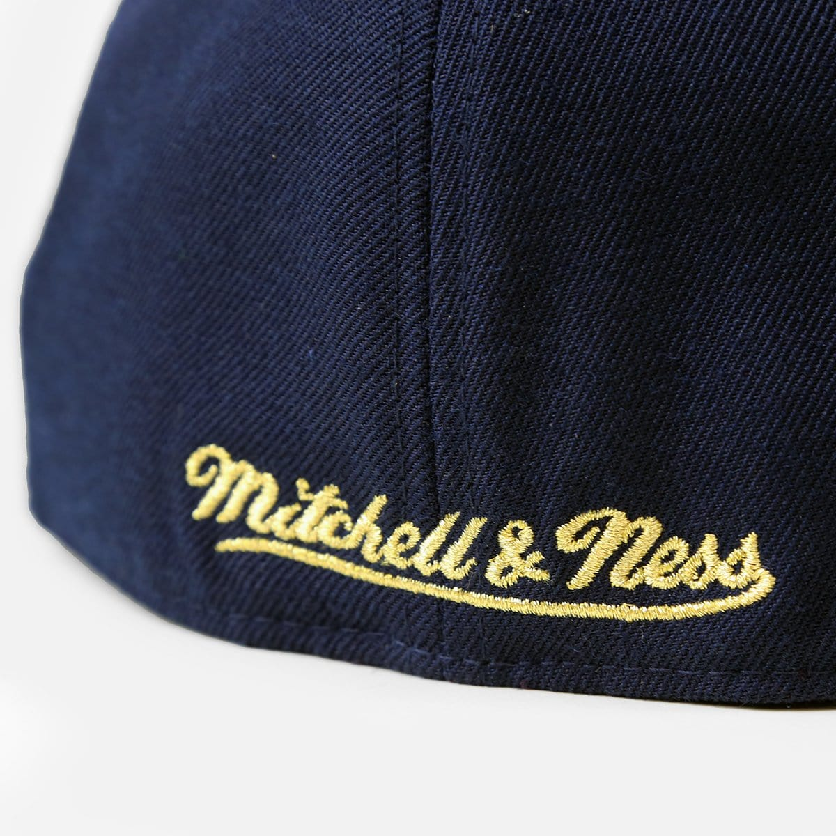 Mitchell & Ness Minnesota Timberwolves USA 2 Tone Fitted Hat (Navy/Gold-Red)