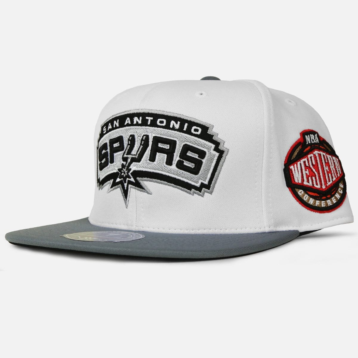 Mitchell & Ness San Antonio Spurs High Crown Fitted (White/Grey-Black)