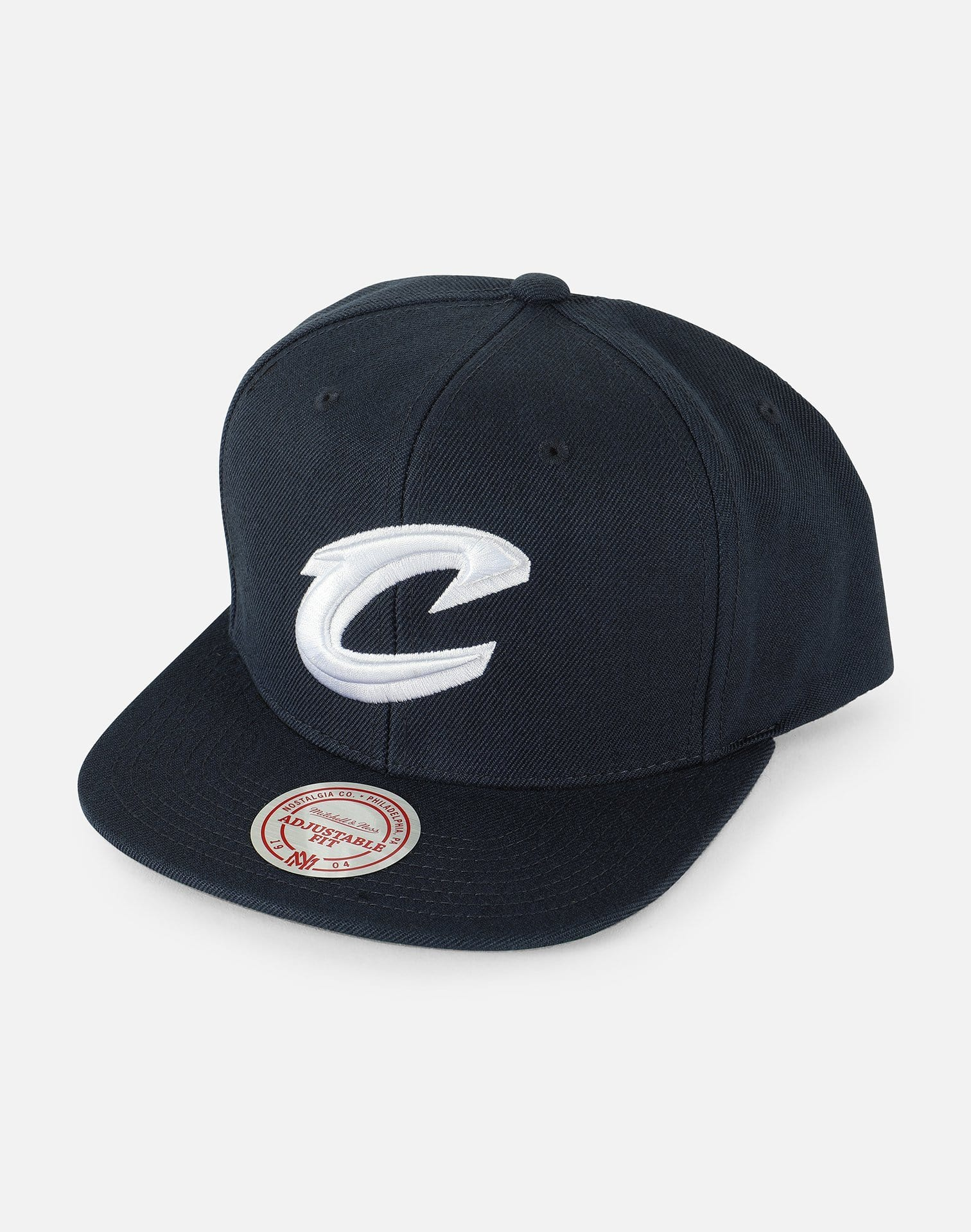 Mitchell & Ness NBA Cleveland Cavaliers Logo Script Snapback Hat