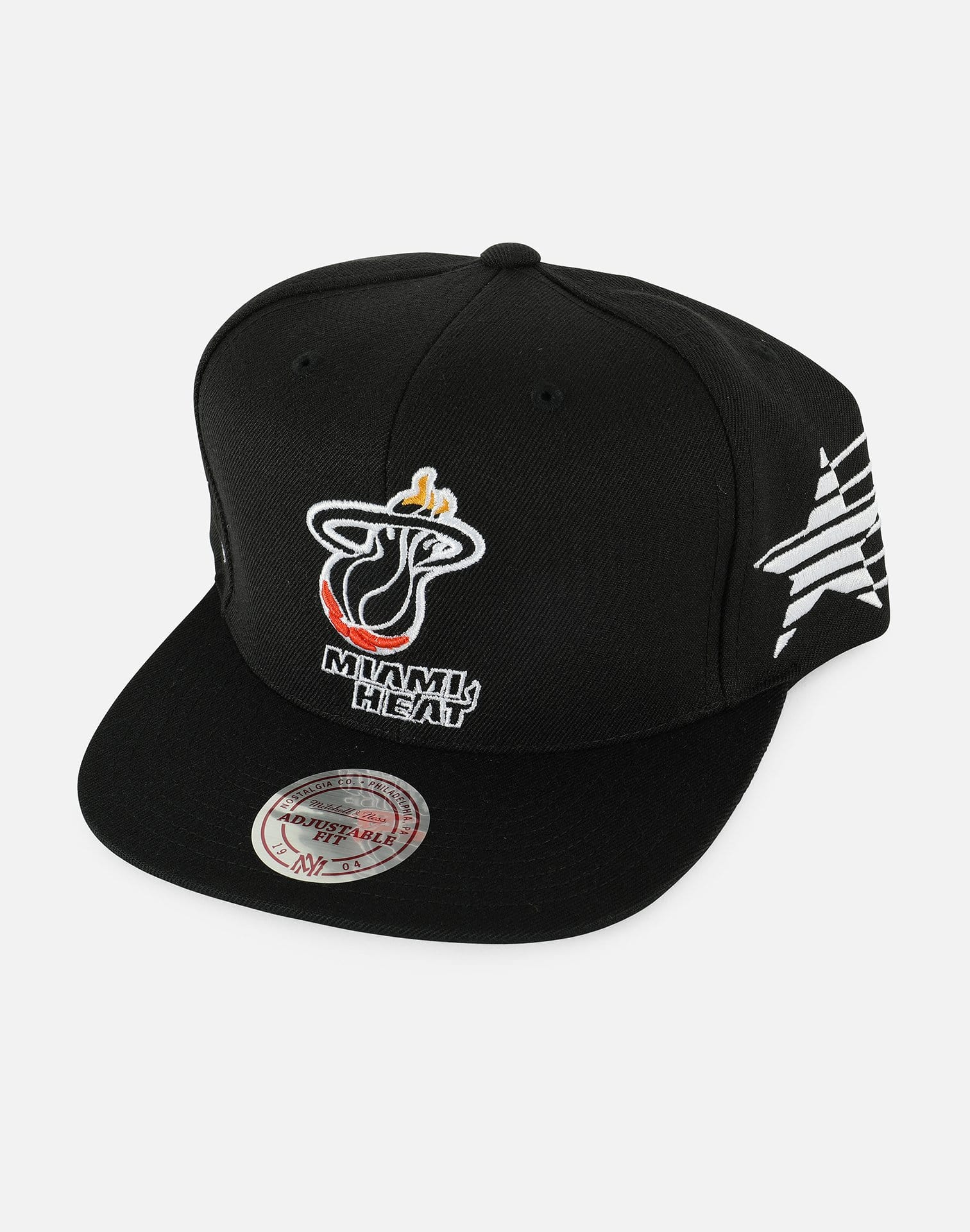 Mitchell & Ness NBA Miami Heat Racer Snapback Hat