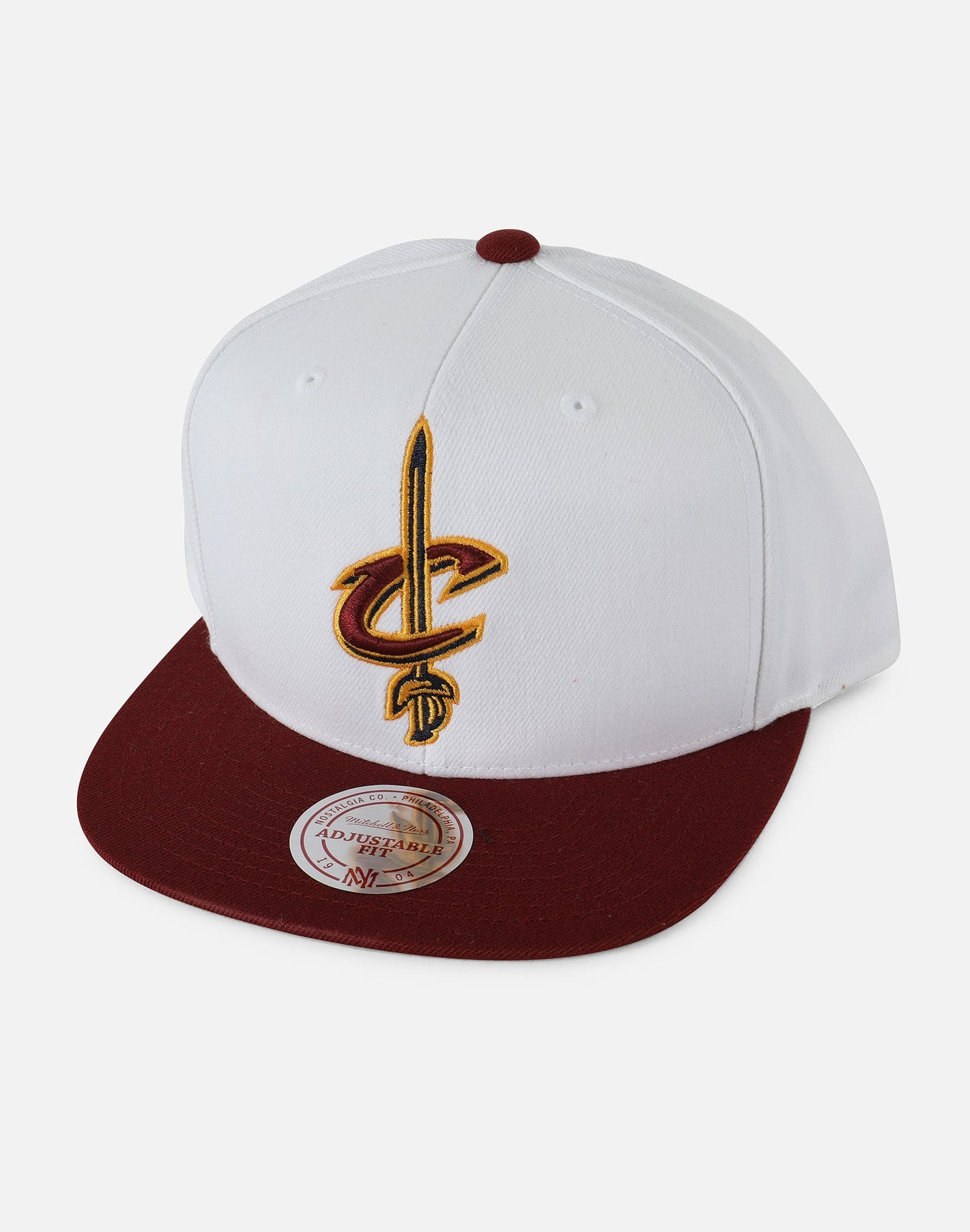 Mitchell and Ness Cleveland Cavaliers XL Logo 2 Tone Snapback