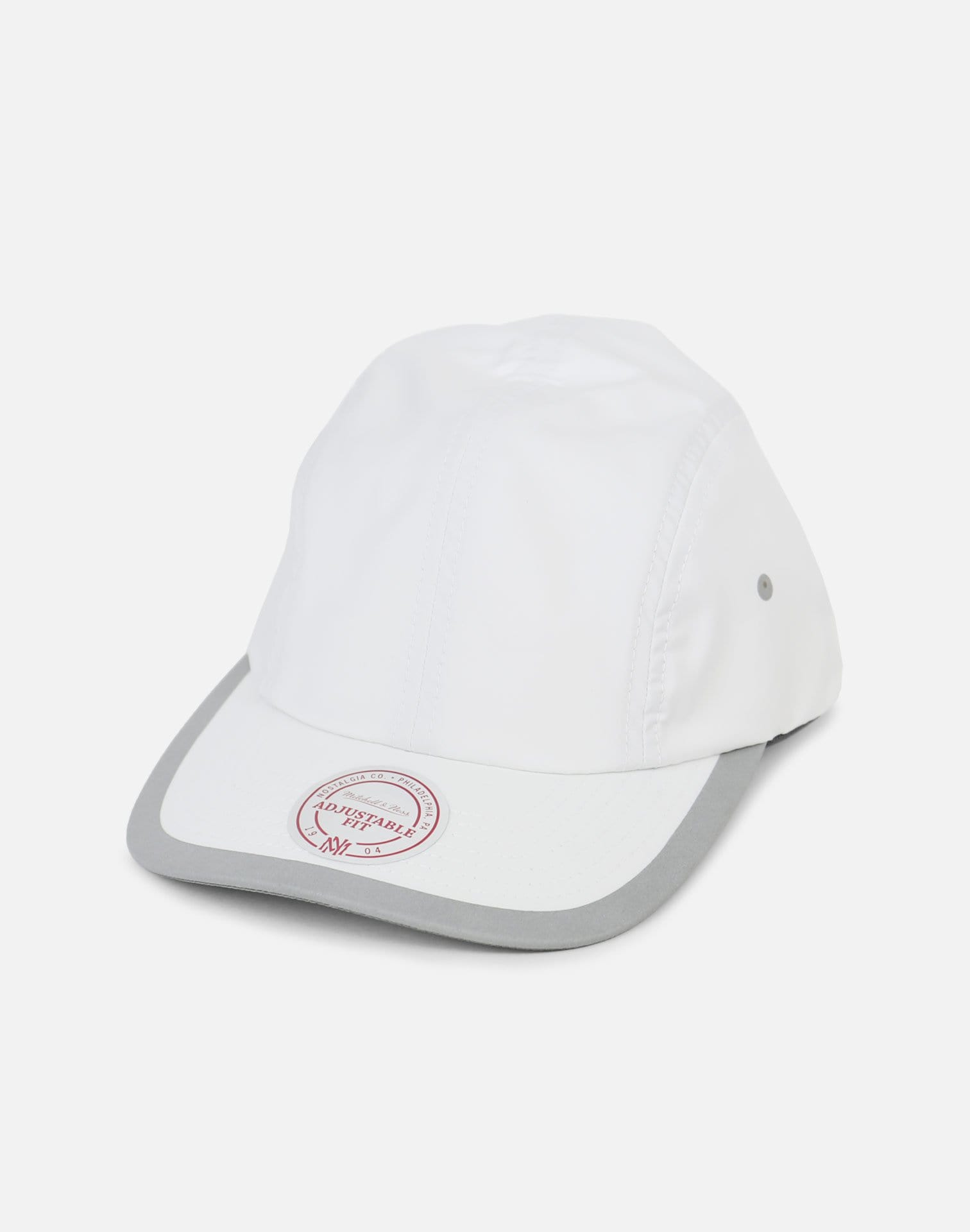 Mitchell & Ness Ply Double Weave Clip Strapback (White/Grey)