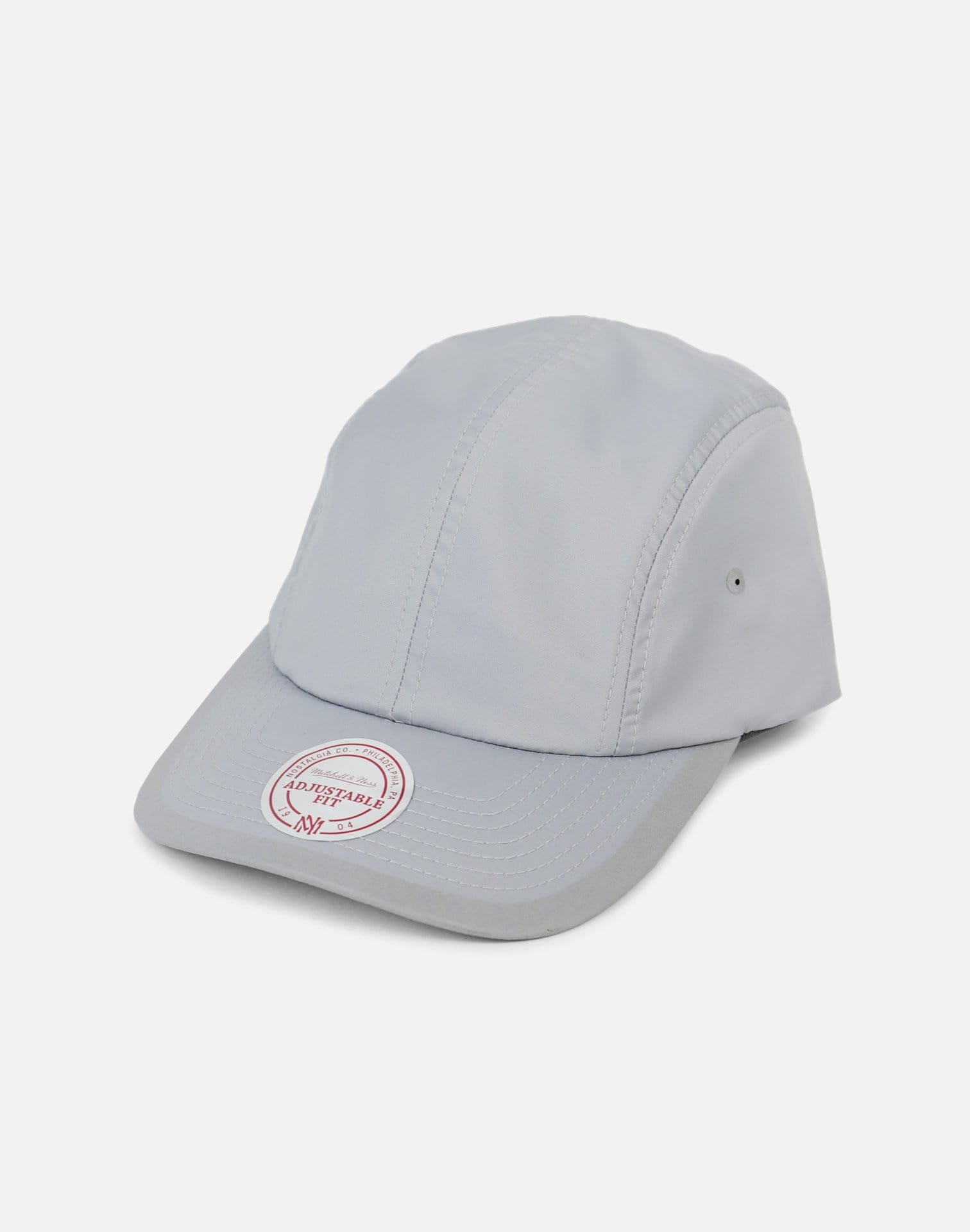 Mitchell & Ness Poly Double Weave Clip Strapback (Grey)