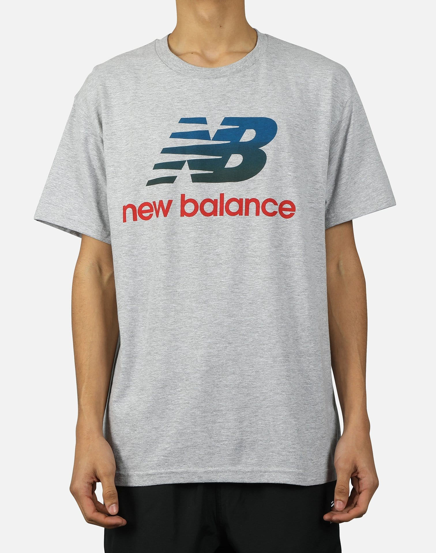 NewBalance NB ATHLETICS SPLIT STACK LOGO TEE