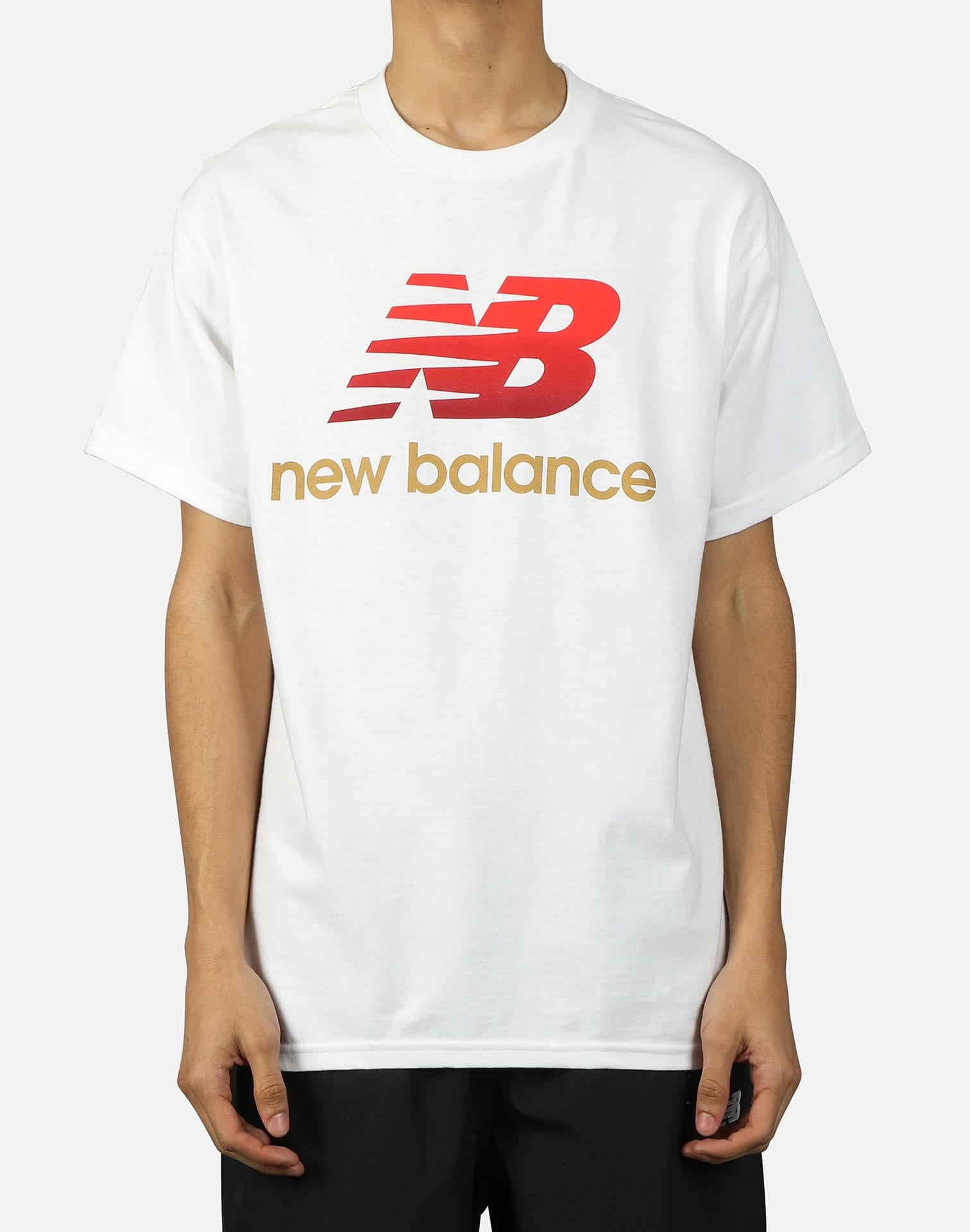 NewBalance NB ALTHETICS SPLIT STACK LOGO TEE