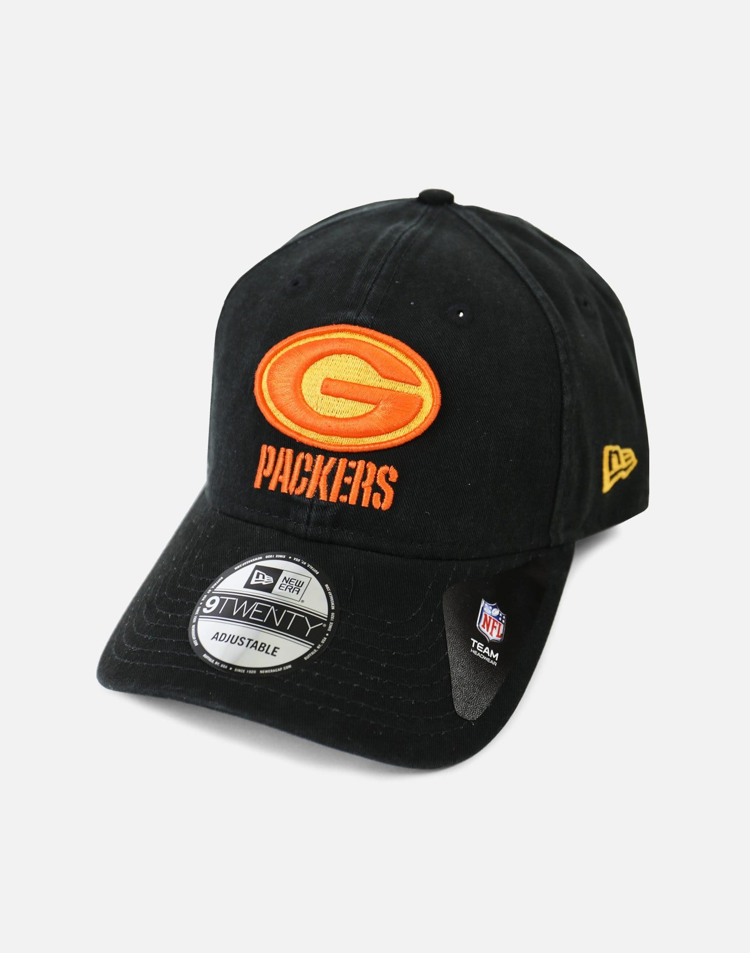 New Era Green Bay Packers Tone Front Strapback (Black)
