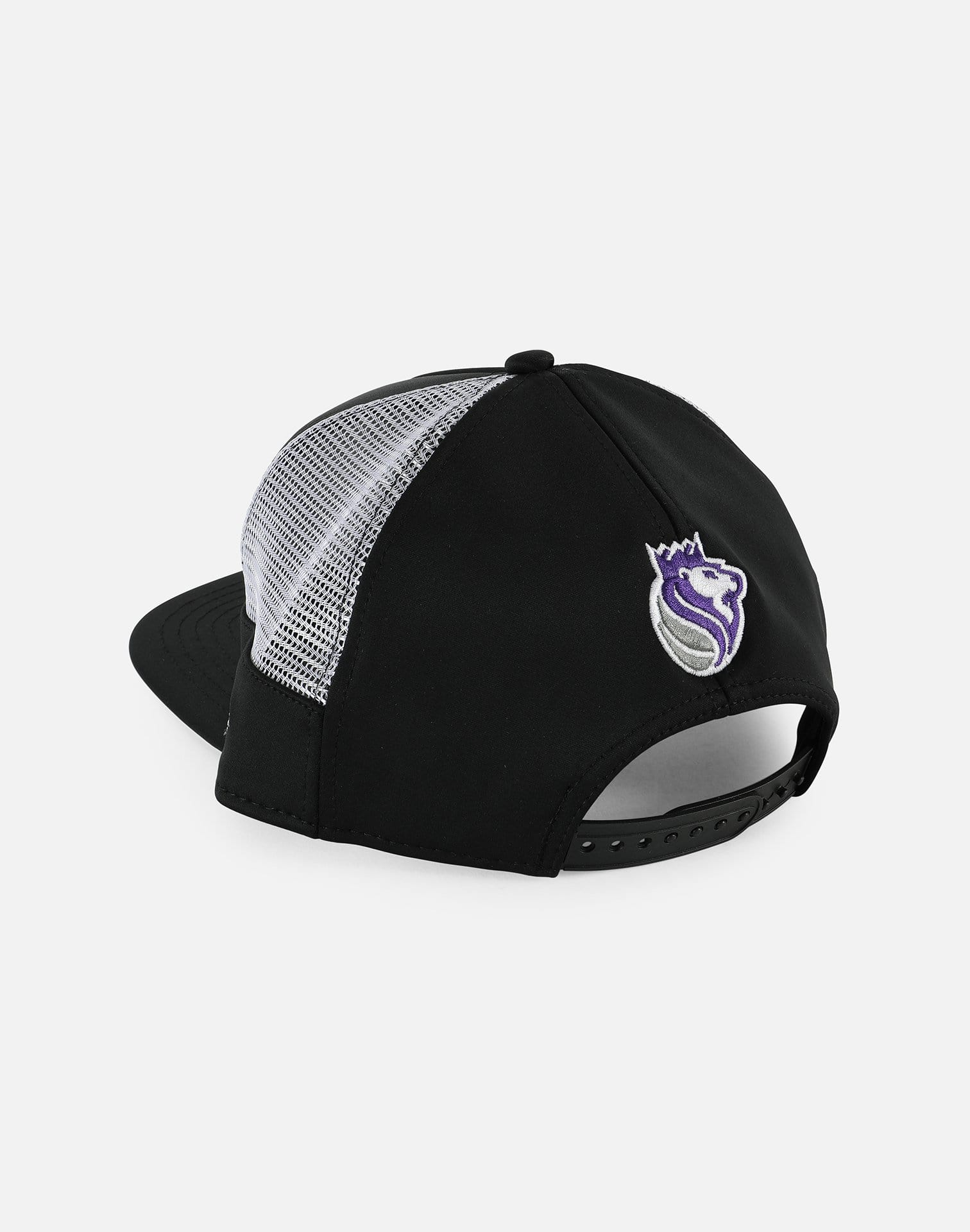 New Era NBA Sacramento Kings Script Half Mesh Snapback Hat