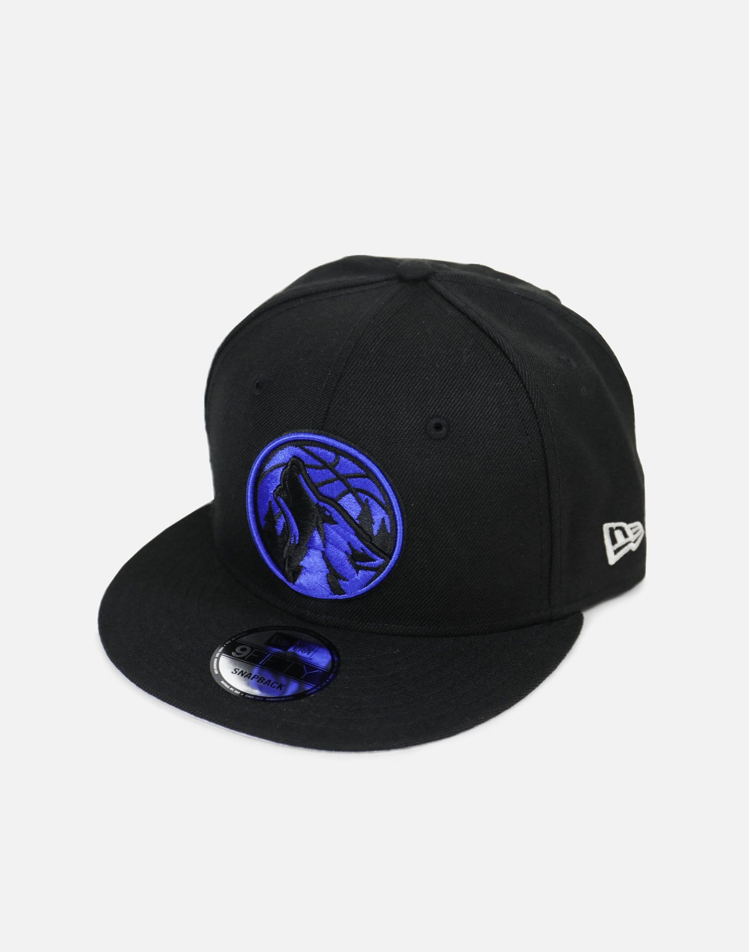 New Era Minnesota Timberwolves Royal Hood Snapback Hat (Black/Royal)