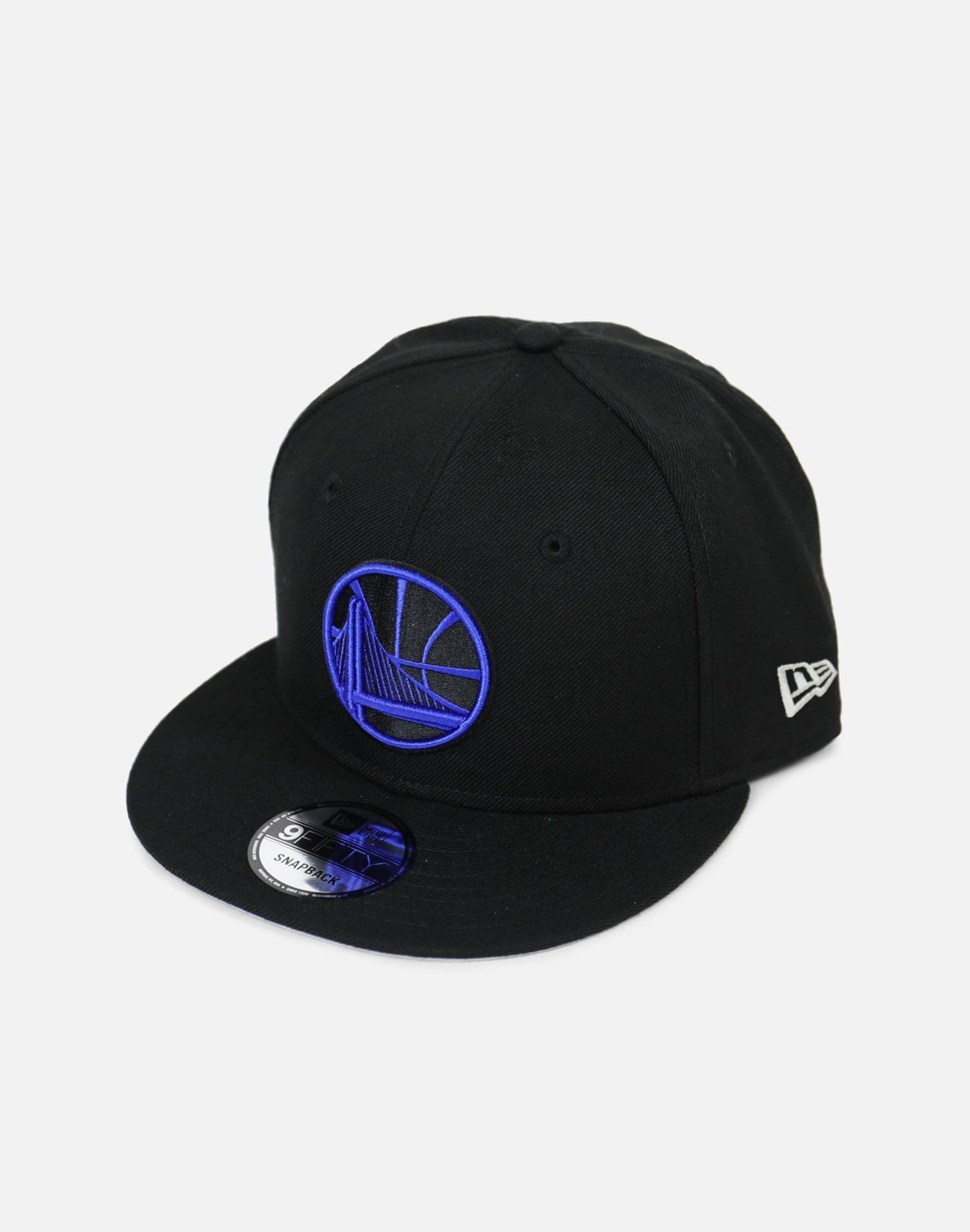 New Era Golden State Warriors Royal Hook Snapback Hat (Black/Blue)