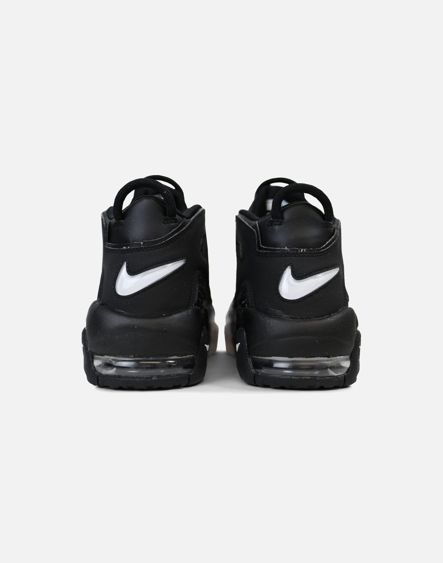 Nike Air More Uptempo 96 'Tri-Color' Grade-School (Black/Black-Cool Grey-White)