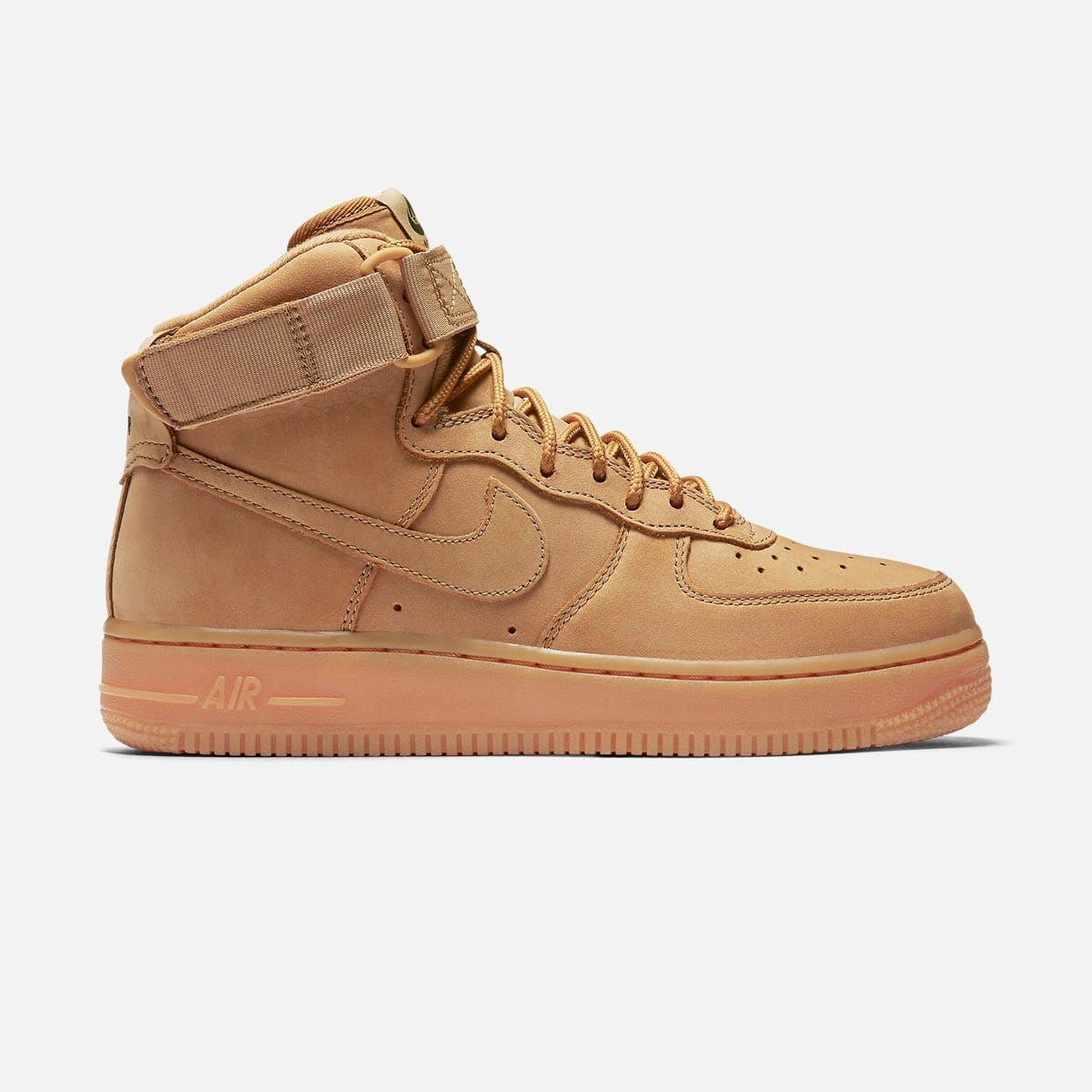 Nike Air Force 1 HI Premium (Flax/Flax-Outdoor Green)