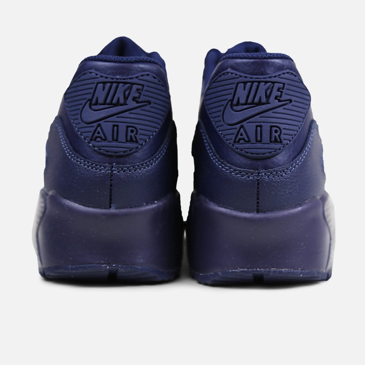 Nike Air Max 90 Leather Grade-School (Obsidian)