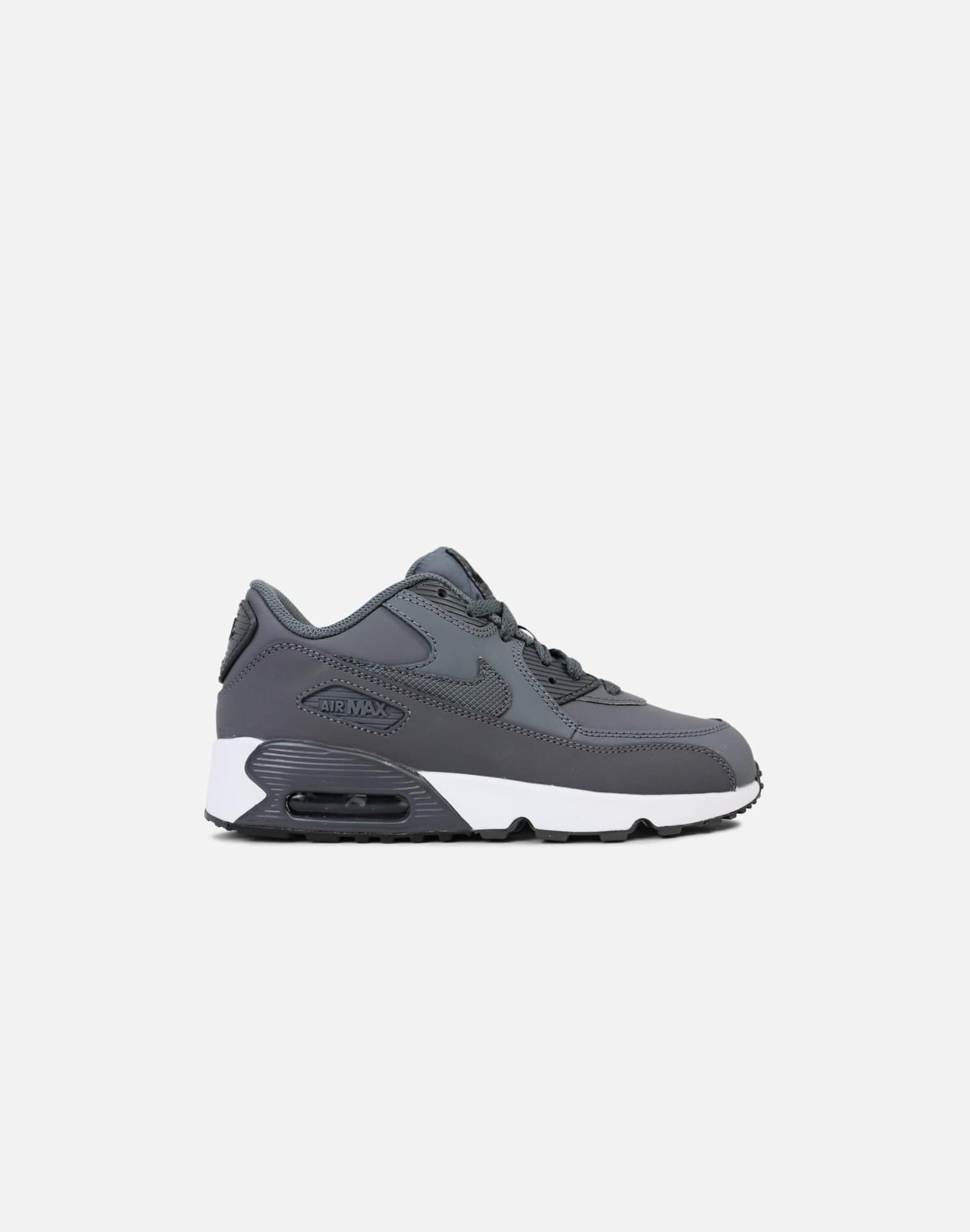 Nike Air Max 90 Leather Pre-School (Grey/White)